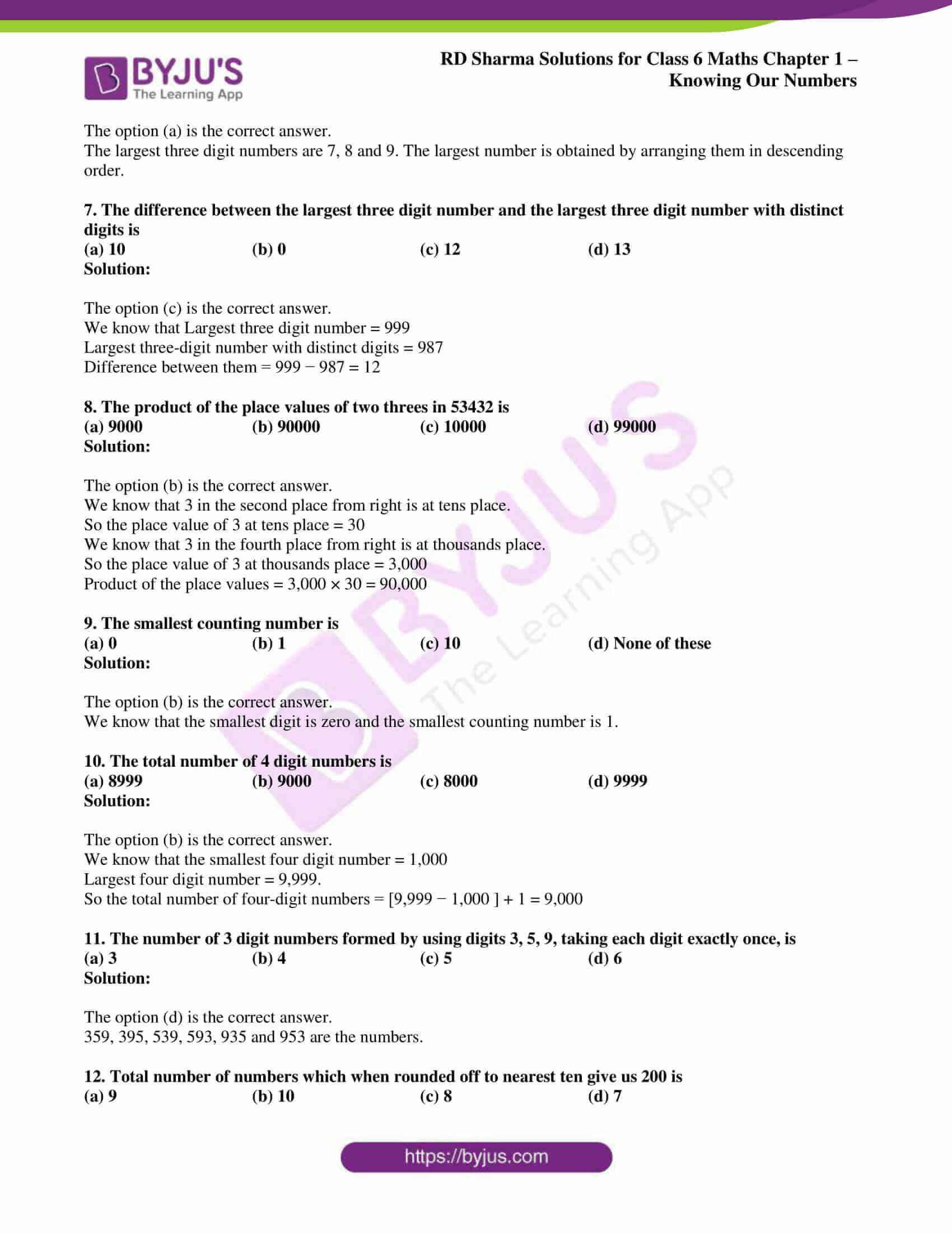 rd sharma class 6 maths solutions chapter 1 obj 2