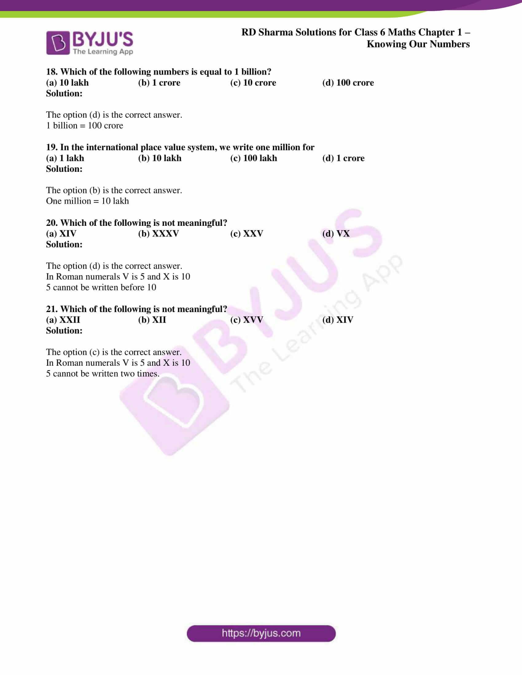 rd sharma class 6 maths solutions chapter 1 obj 4