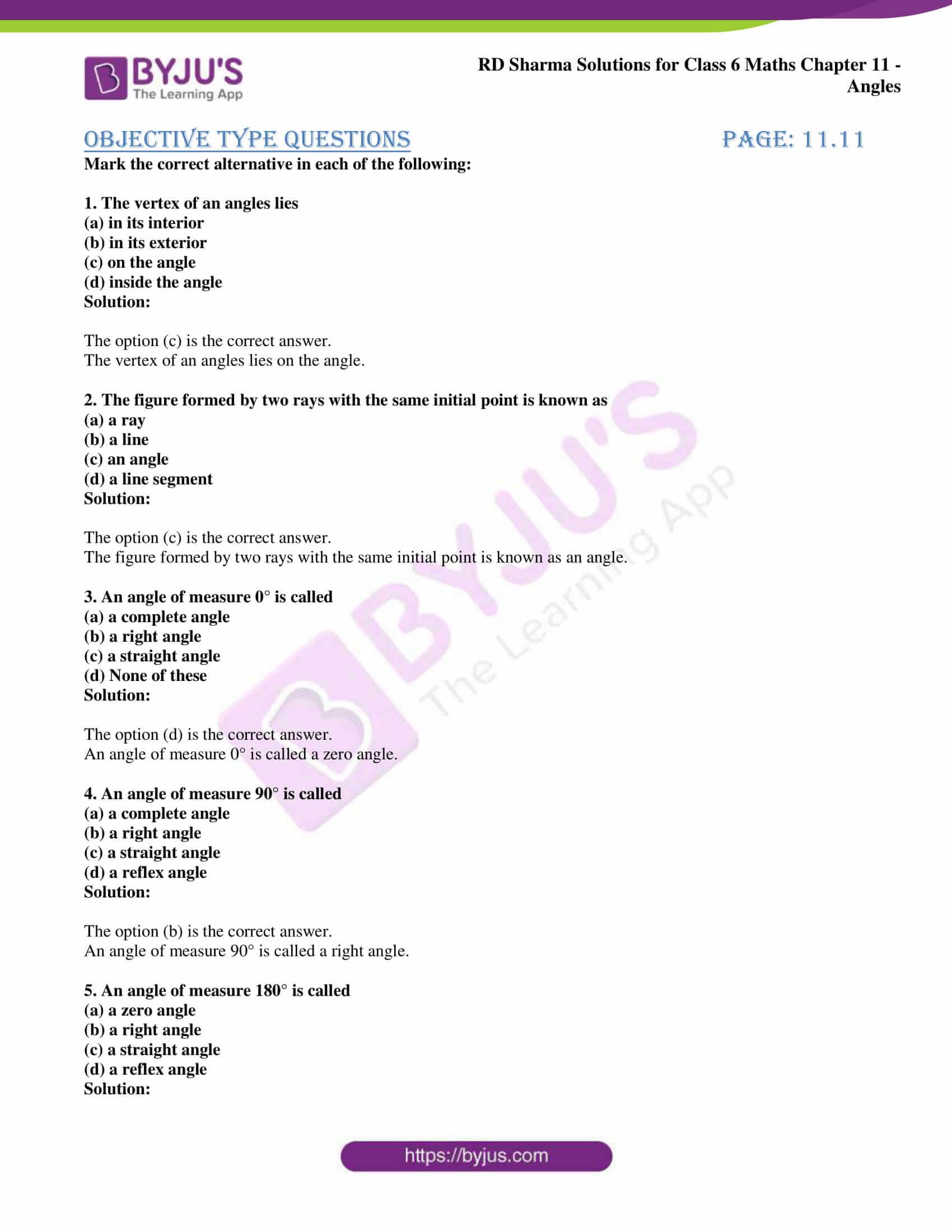 rd sharma class 6 maths solutions chapter 11 obj 1