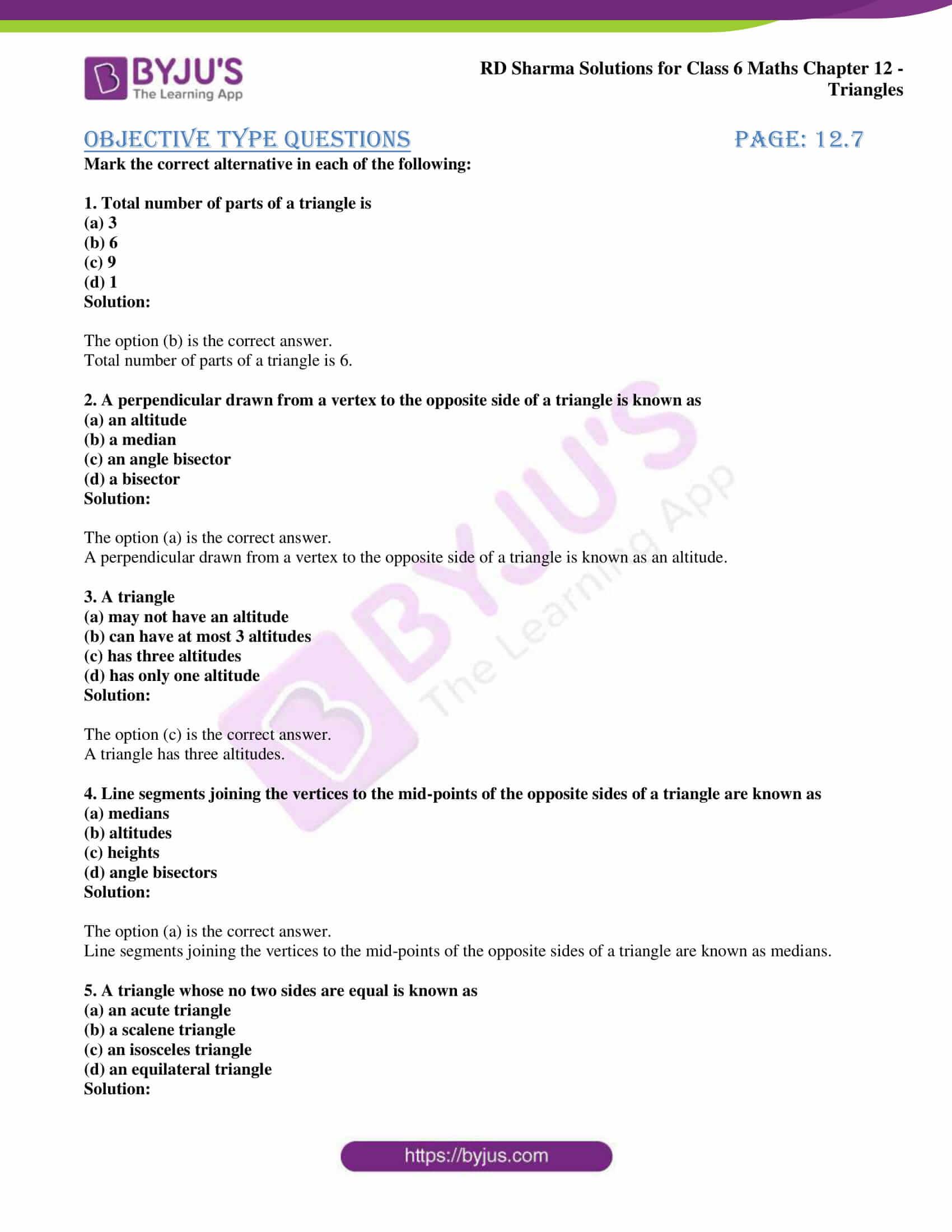 rd sharma class 6 maths solutions chapter 12 obj 1