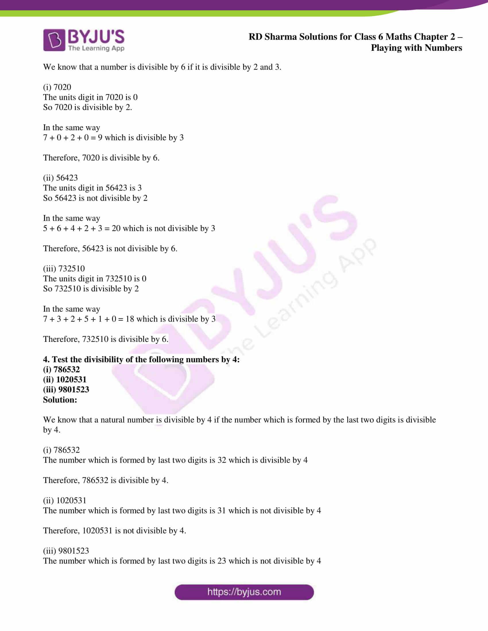 rd sharma class 6 maths solutions chapter 2 ex 5 2