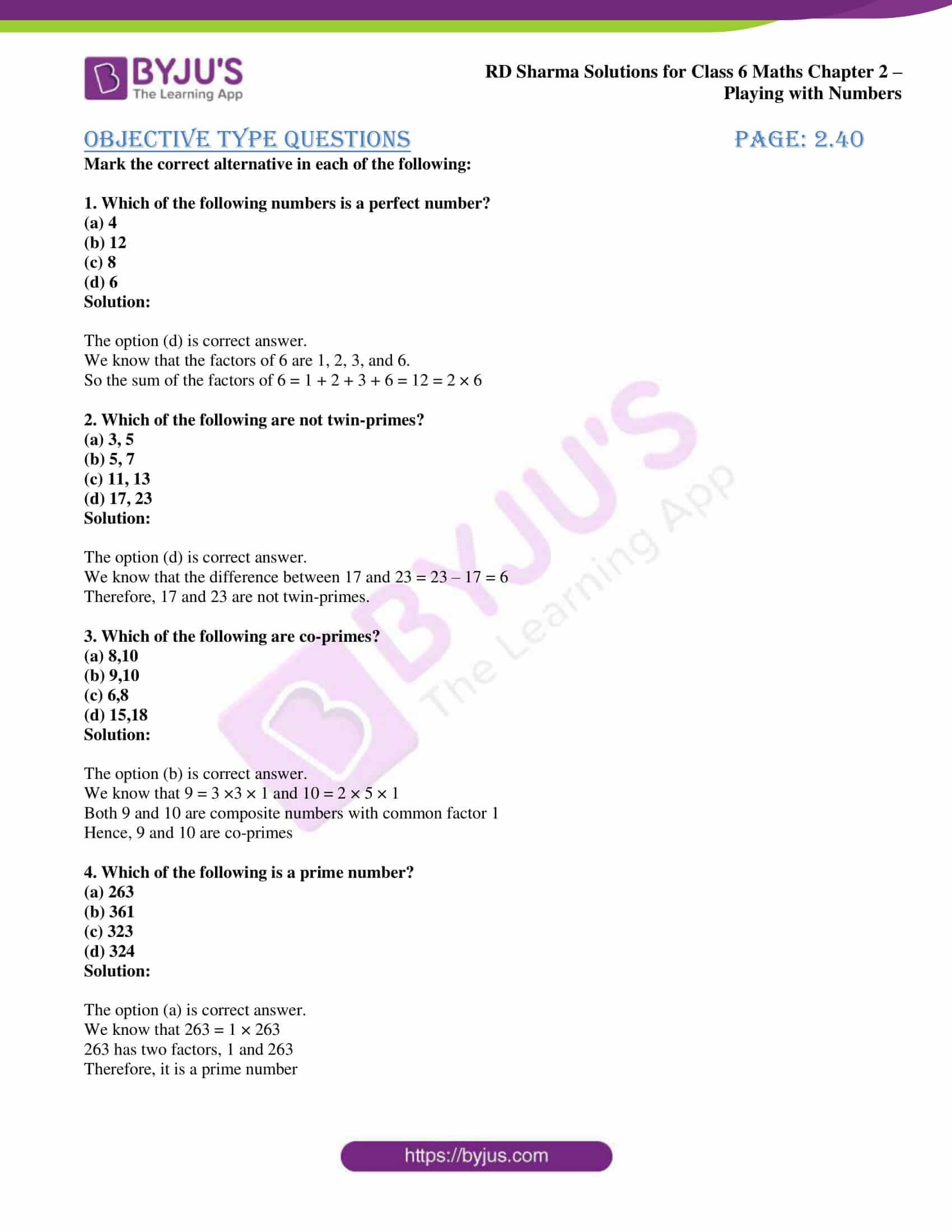 rd sharma class 6 maths solutions chapter 2 obj 1