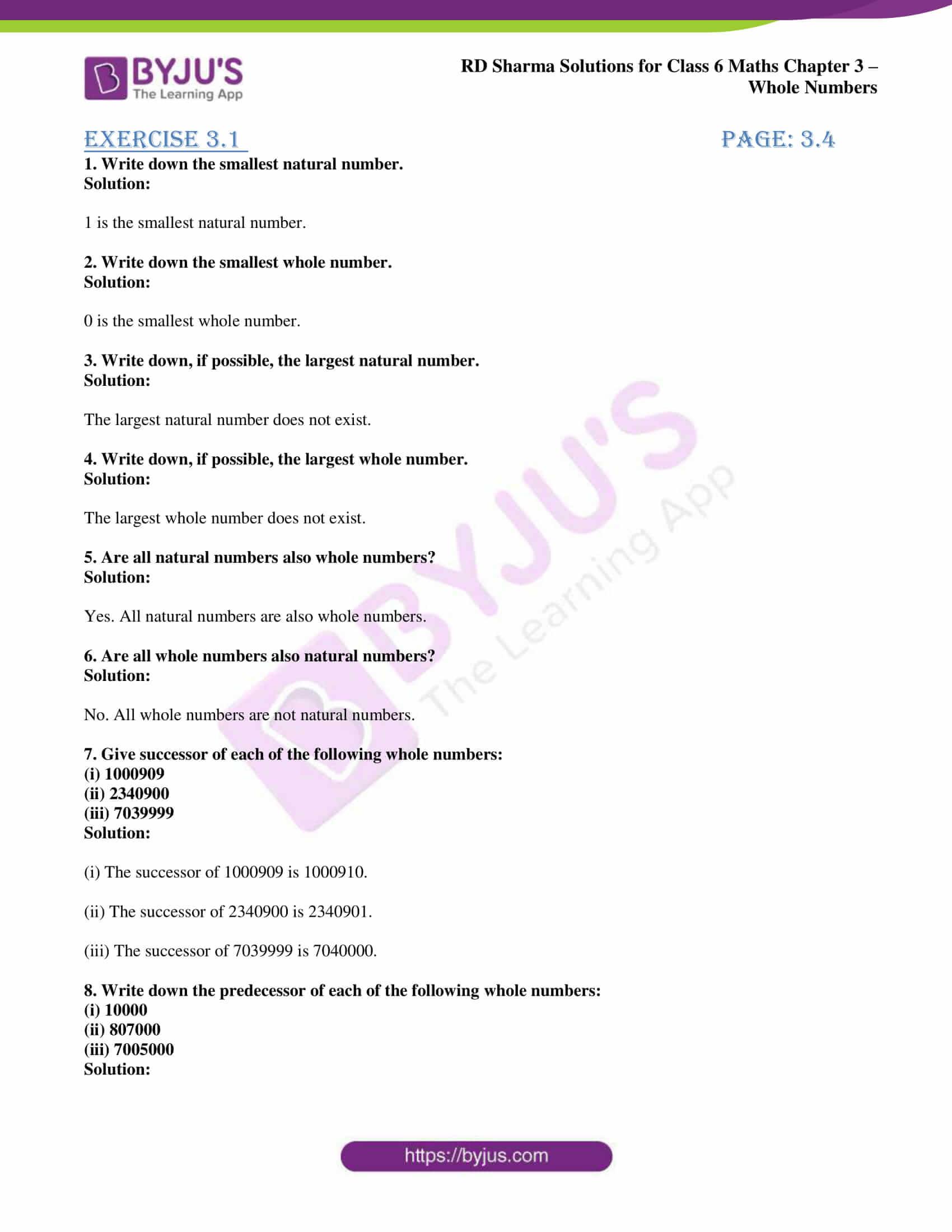 rd sharma class 6 maths solutions chapter 3 ex 1 1