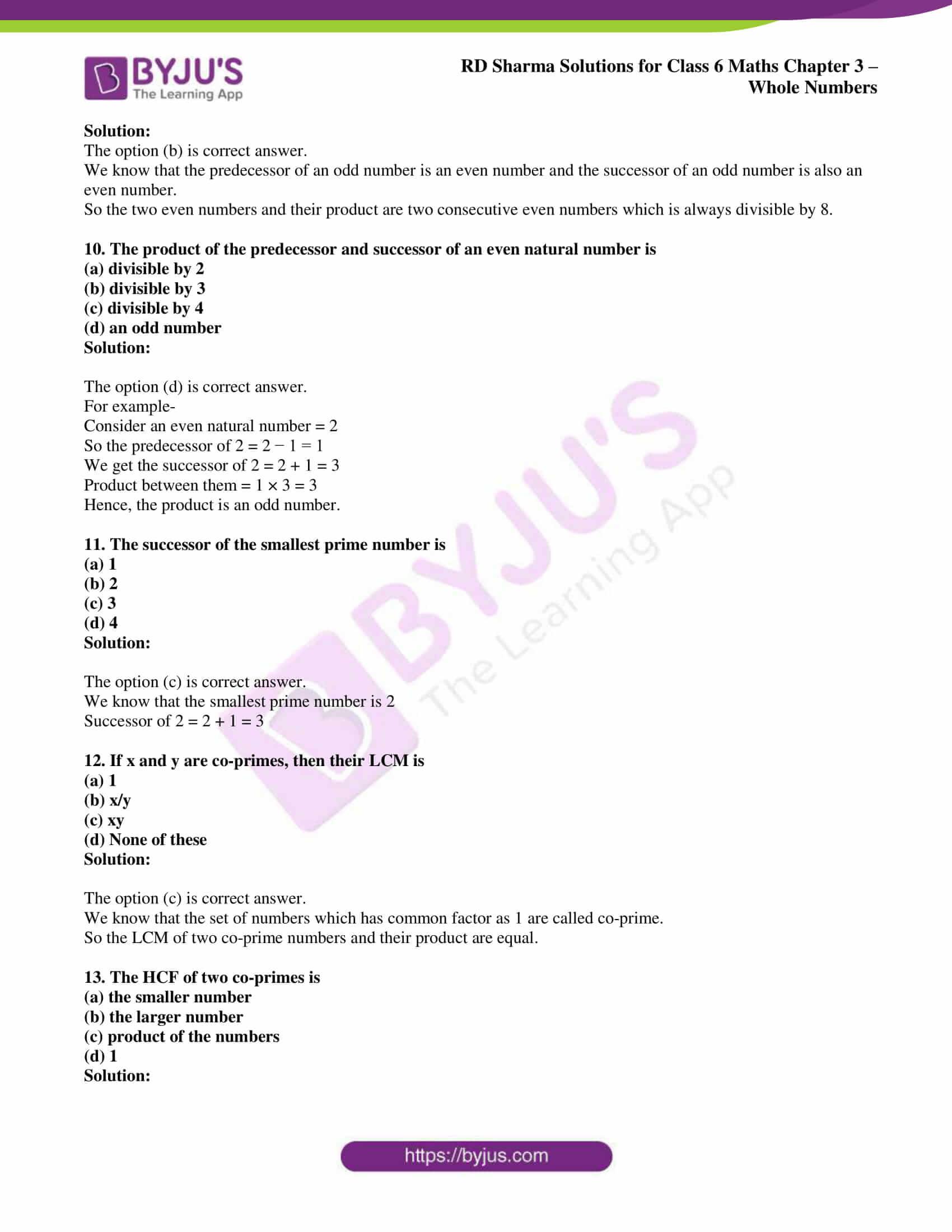 rd sharma class 6 maths solutions chapter 3 obj 3