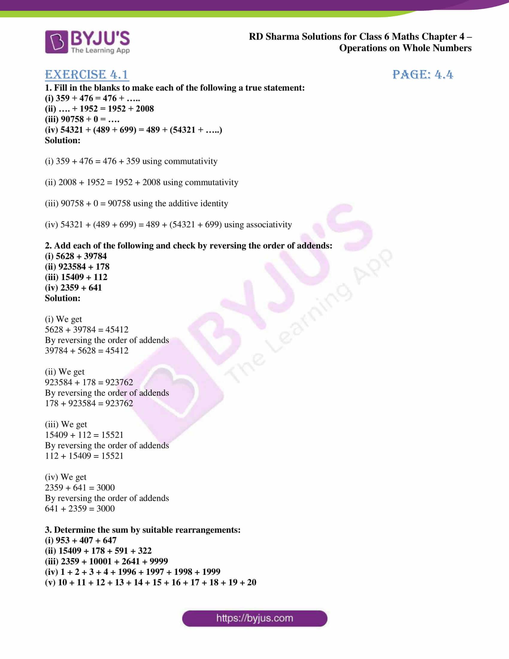rd sharma class 6 maths solutions chapter 4 ex 1 1