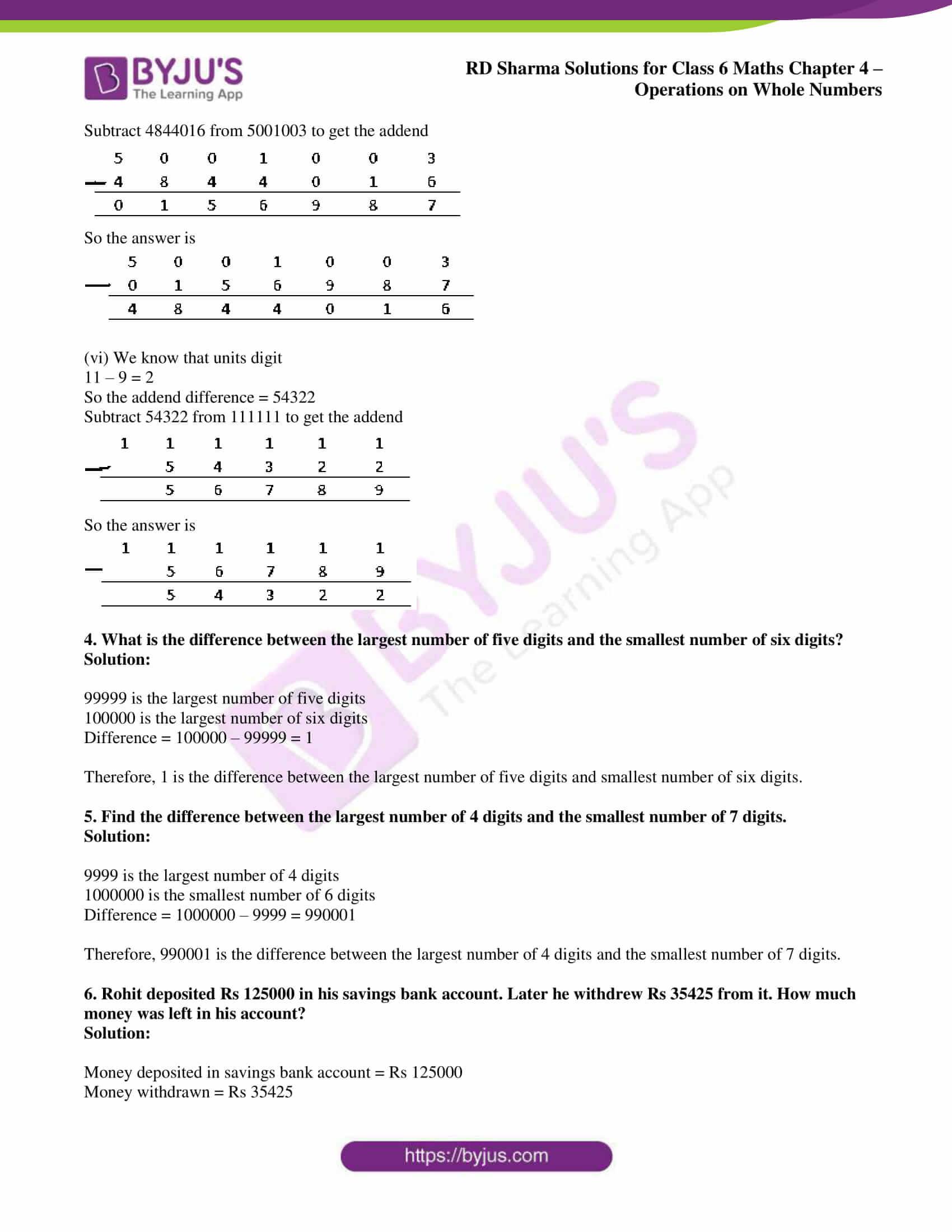 rd sharma class 6 maths solutions chapter 4 ex 2 5