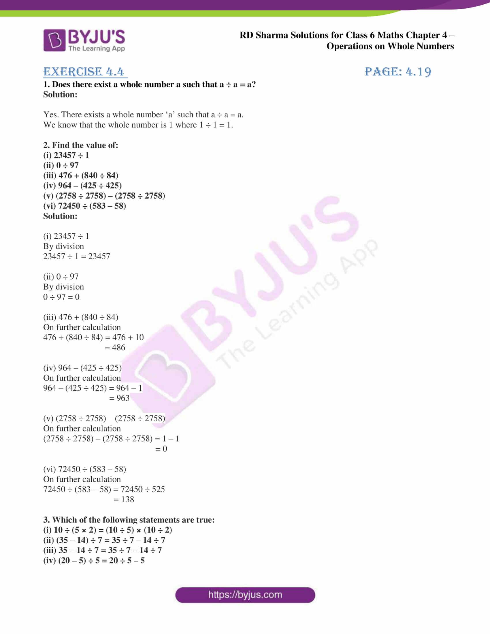 rd sharma class 6 maths solutions chapter 4 ex 4 1