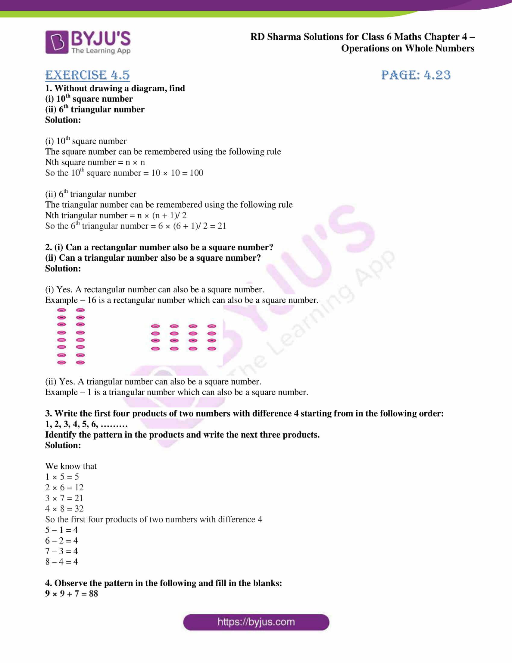 rd sharma class 6 maths solutions chapter 4 ex 5 1