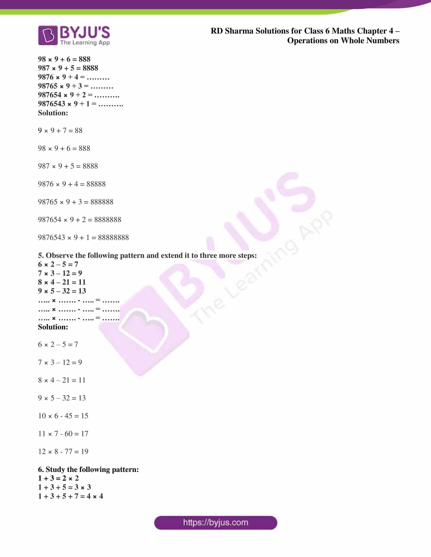 rd sharma class 6 maths solutions chapter 4 ex 5 2