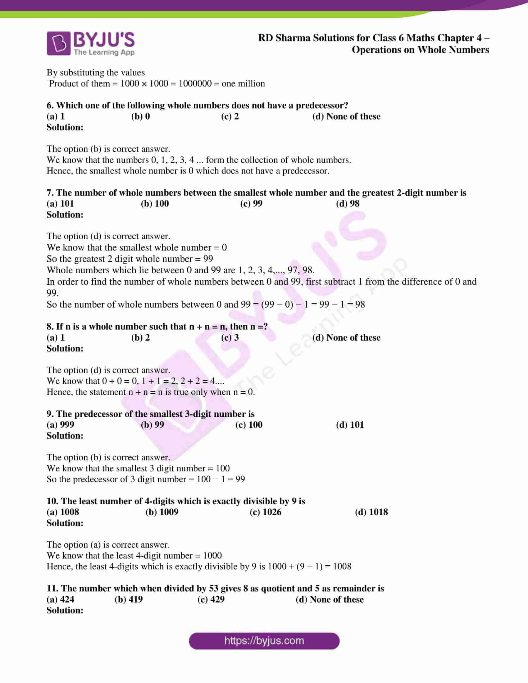 rd sharma class 6 maths solutions chapter 4 obj 2