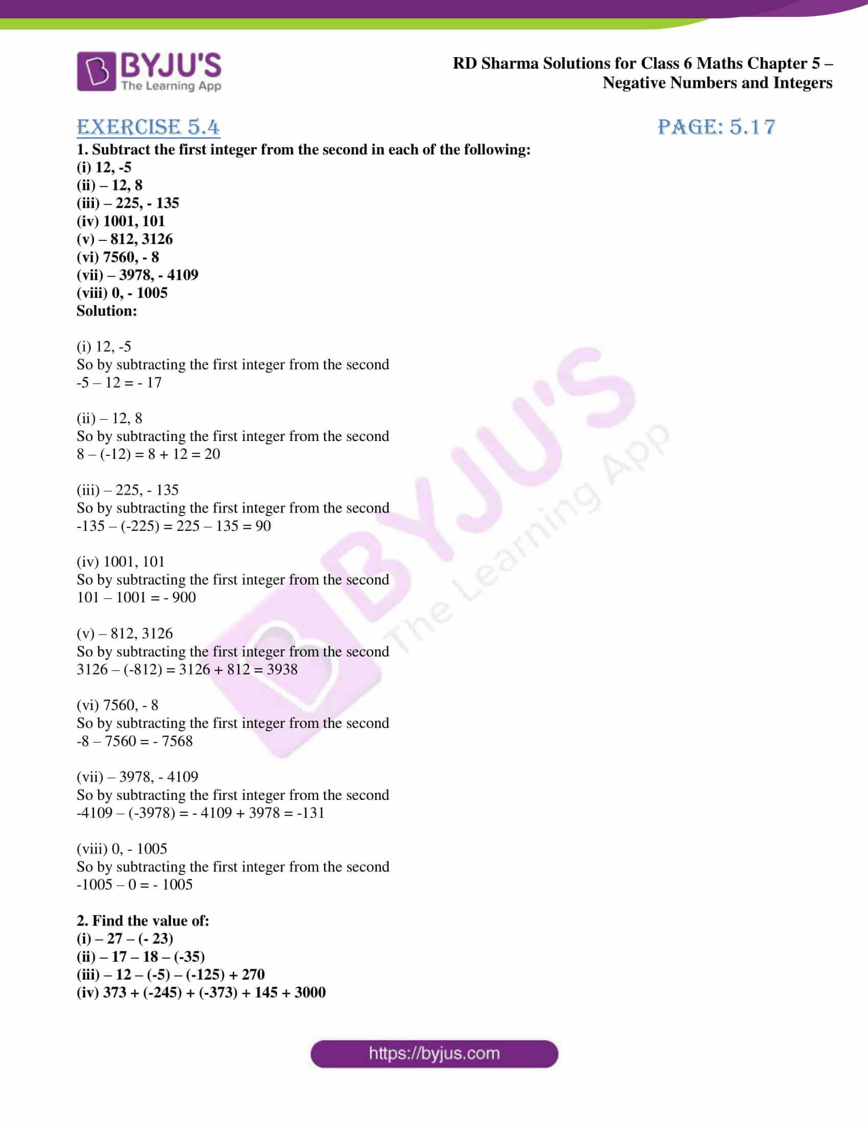 rd sharma class 6 maths solutions chapter 5 ex 4 1