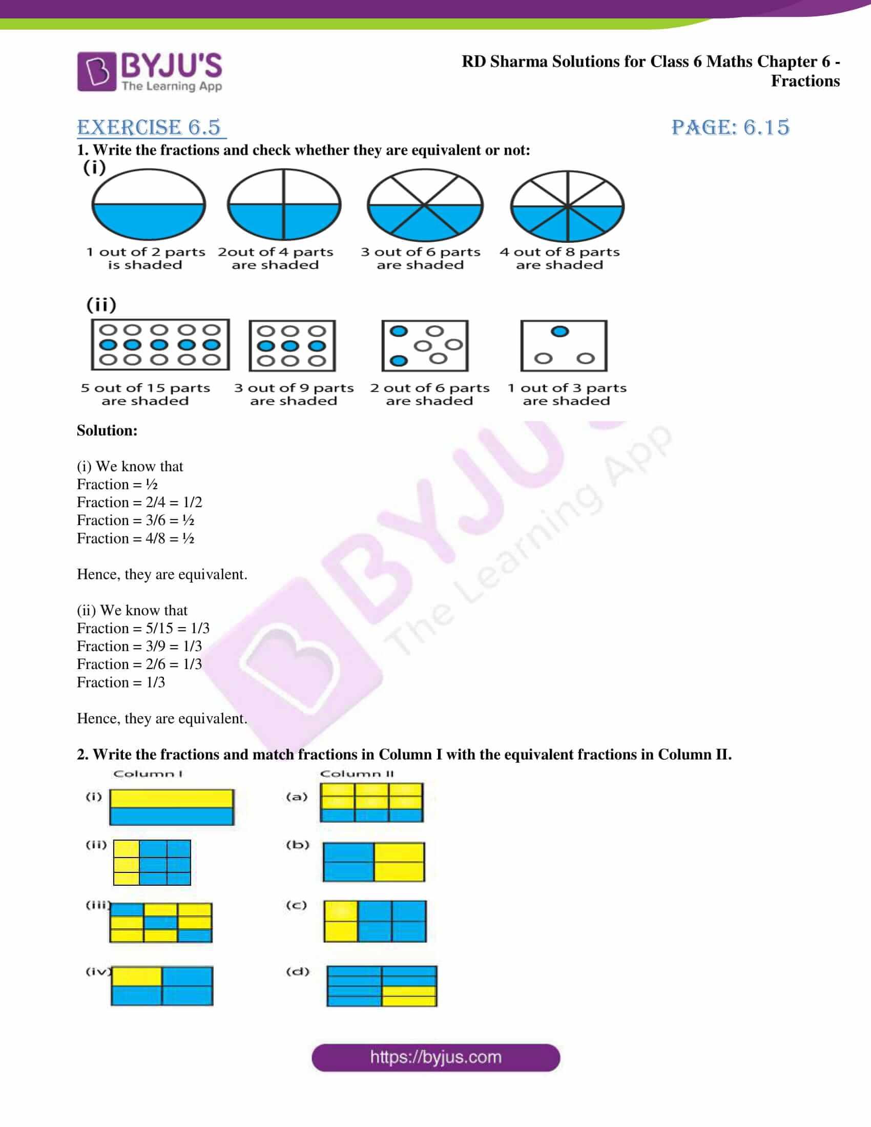 rd sharma class 6 maths solutions chapter 6 ex 5 1