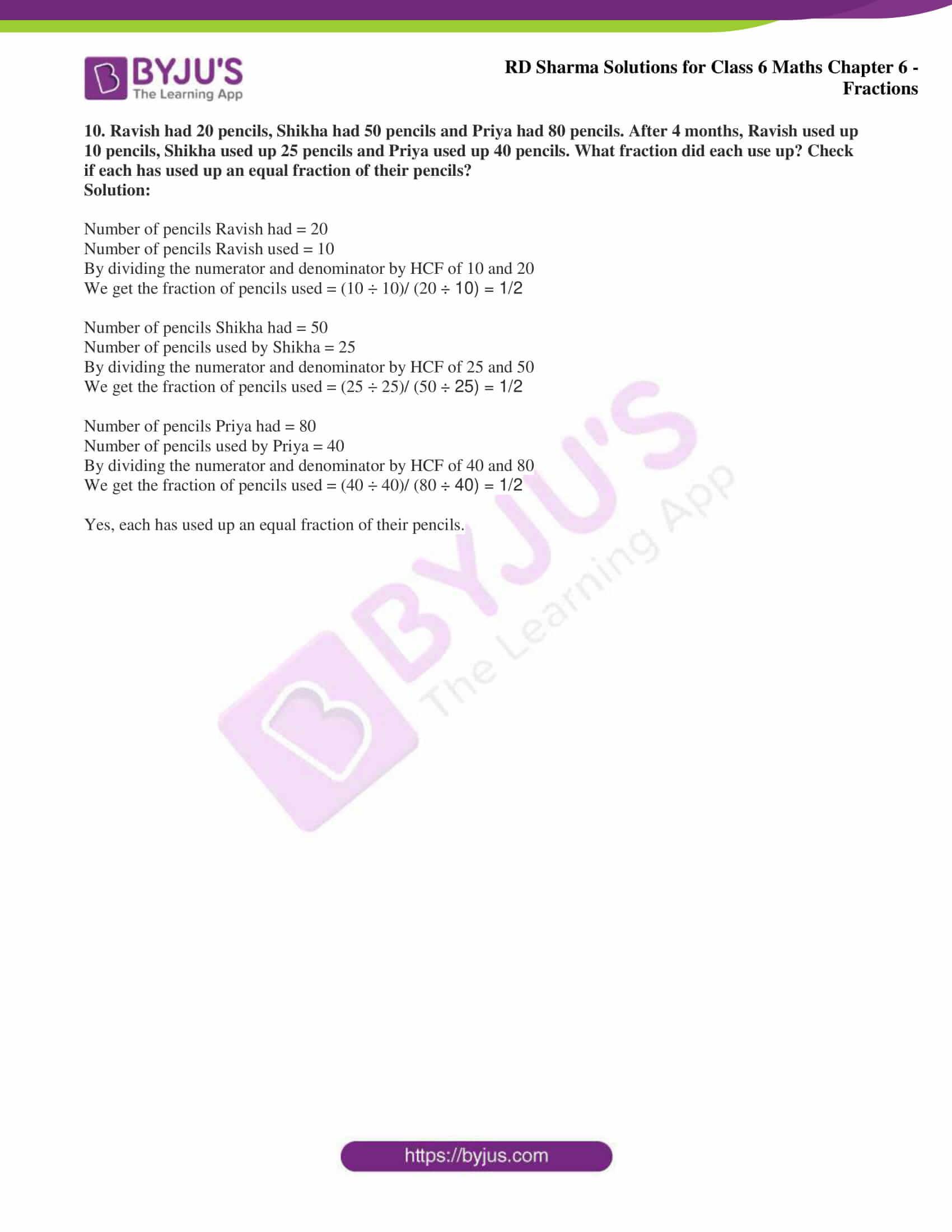 rd sharma class 6 maths solutions chapter 6 ex 5 6