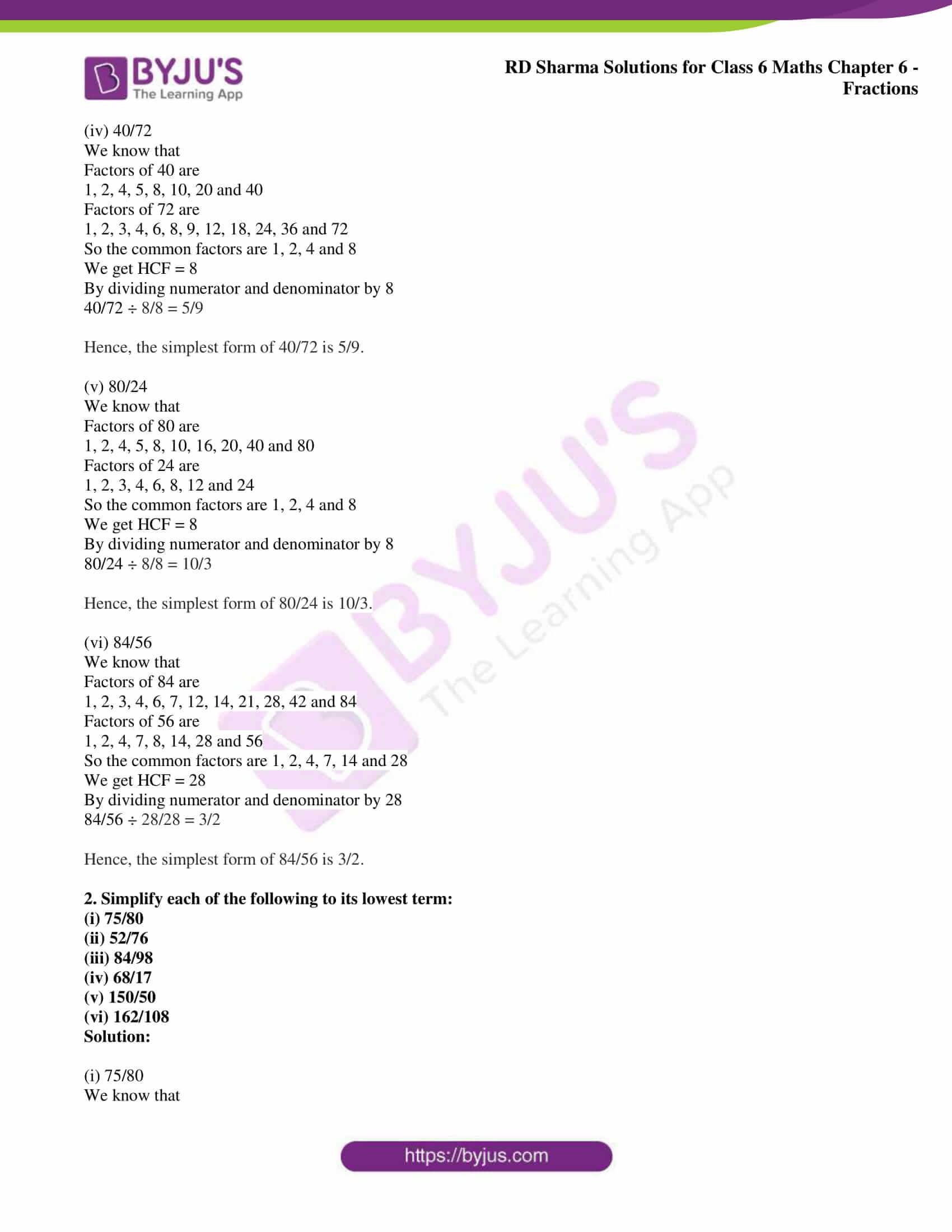 rd sharma class 6 maths solutions chapter 6 ex 6 2