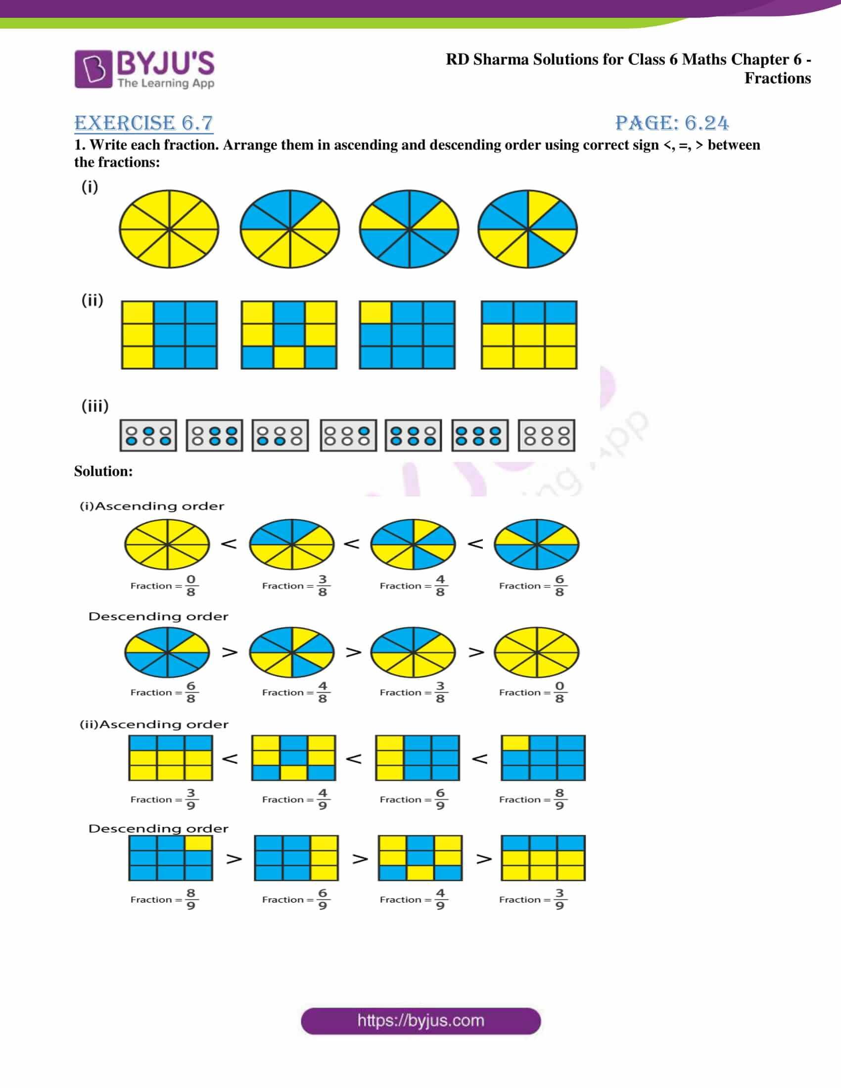 rd sharma class 6 maths solutions chapter 6 ex 7 1
