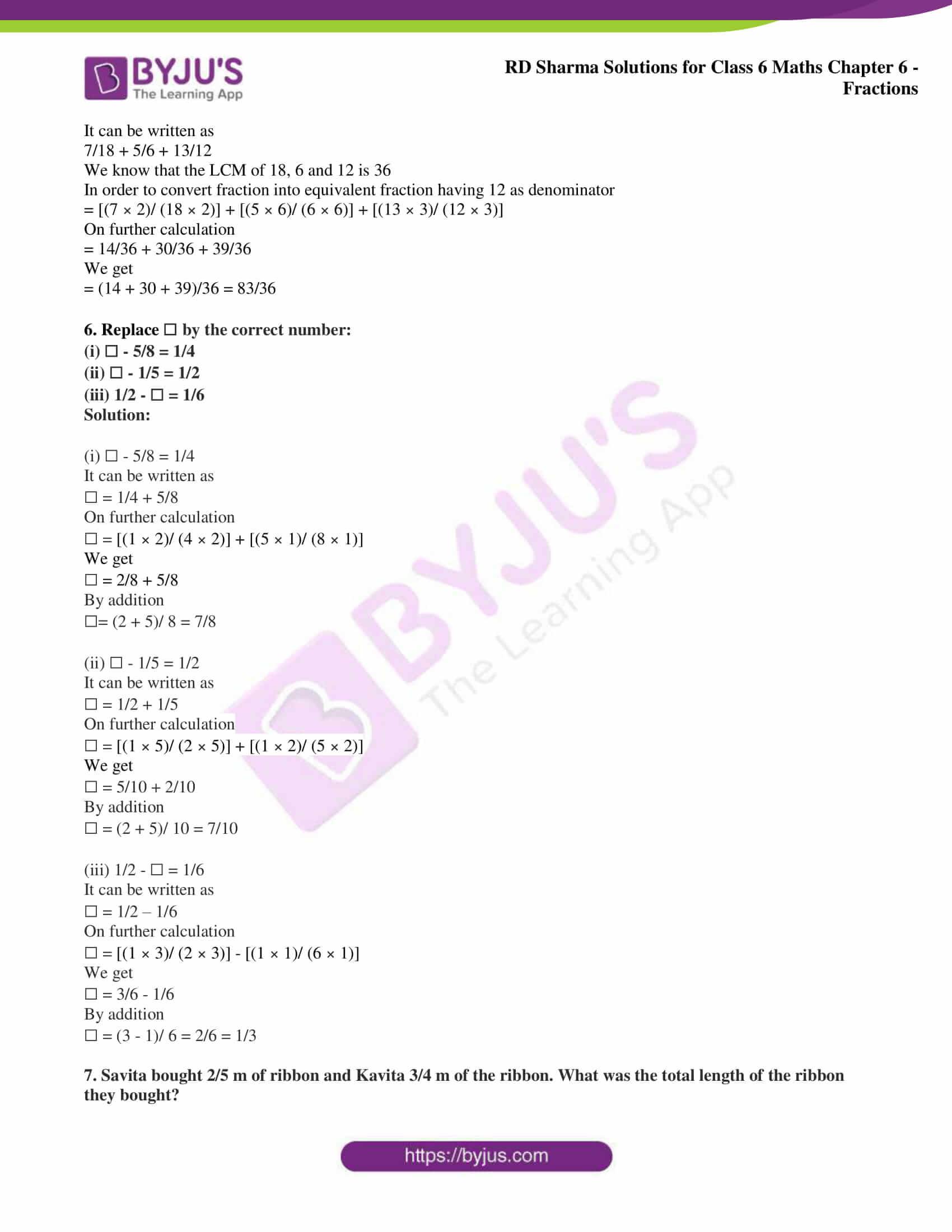 rd sharma class 6 maths solutions chapter 6 ex 9 7