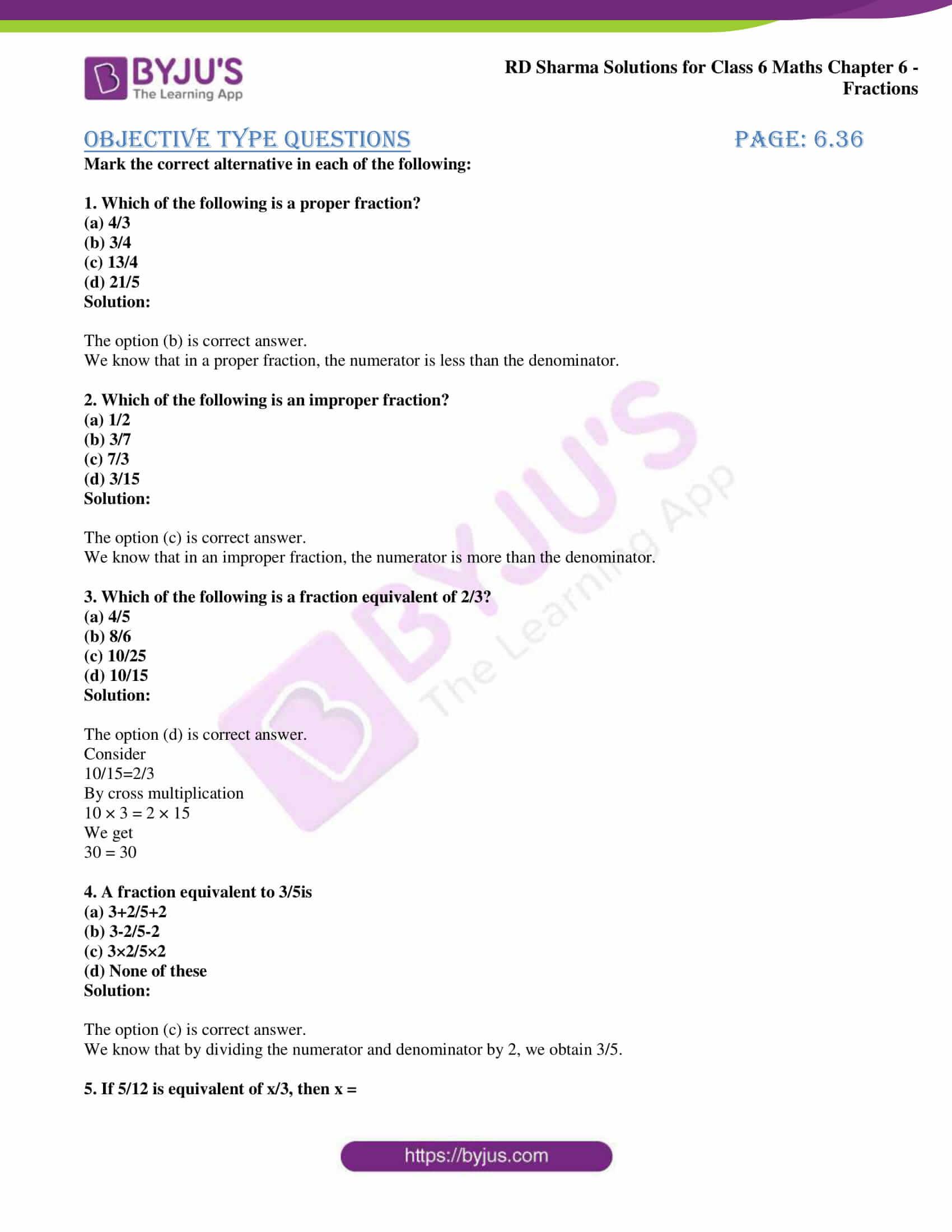 rd sharma class 6 maths solutions chapter 6 obj 1