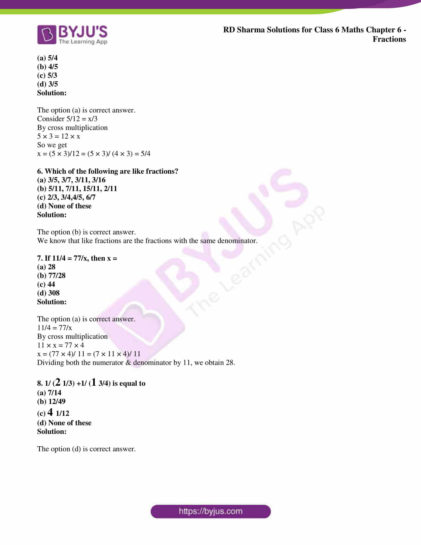 rd sharma class 6 maths solutions chapter 6 obj 2
