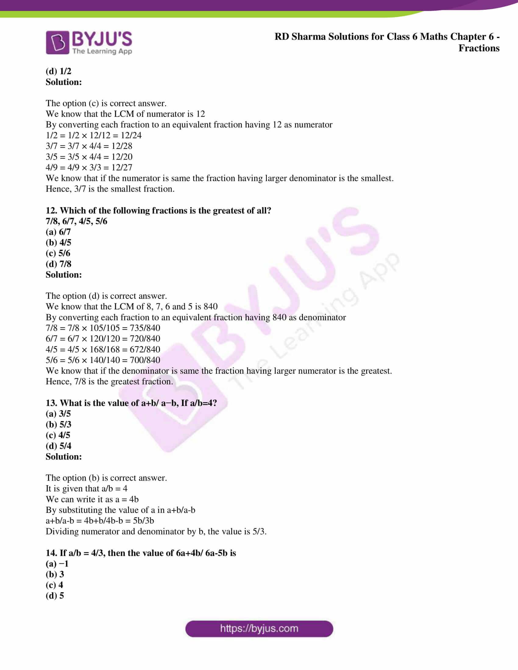 rd sharma class 6 maths solutions chapter 6 obj 4
