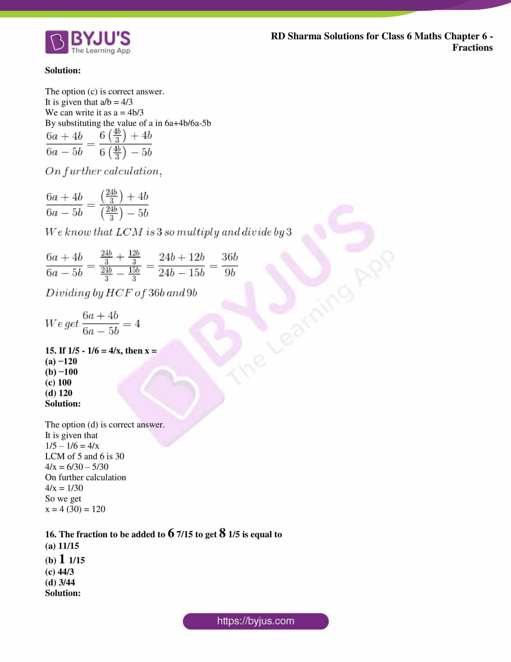 rd sharma class 6 maths solutions chapter 6 obj 5