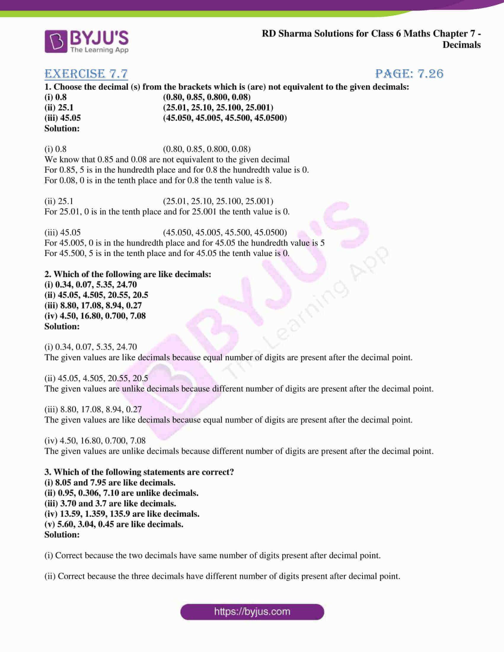 rd sharma class 6 maths solutions chapter 7 ex 7 1