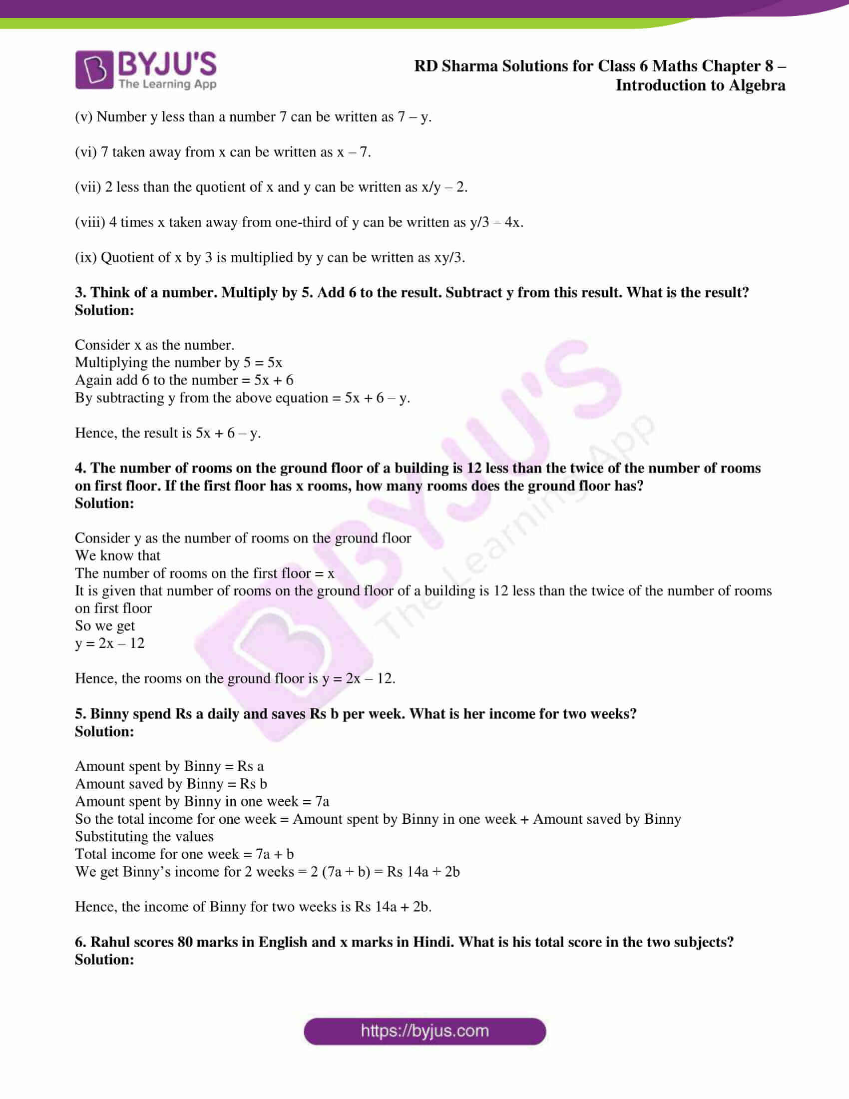 rd sharma class 6 maths solutions chapter 8 ex 1 2