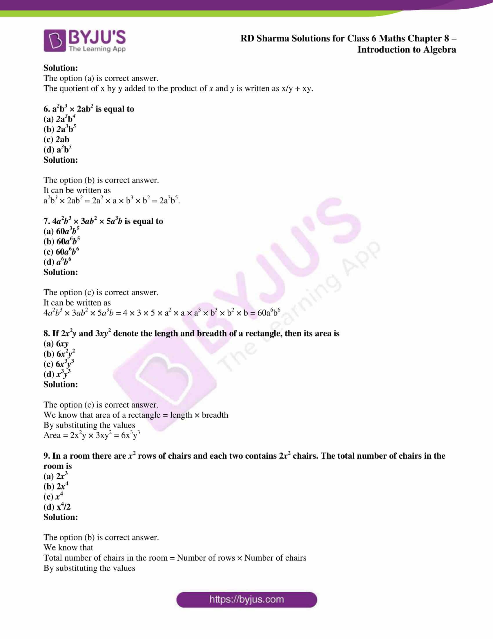 rd sharma class 6 maths solutions chapter 8 obj 2