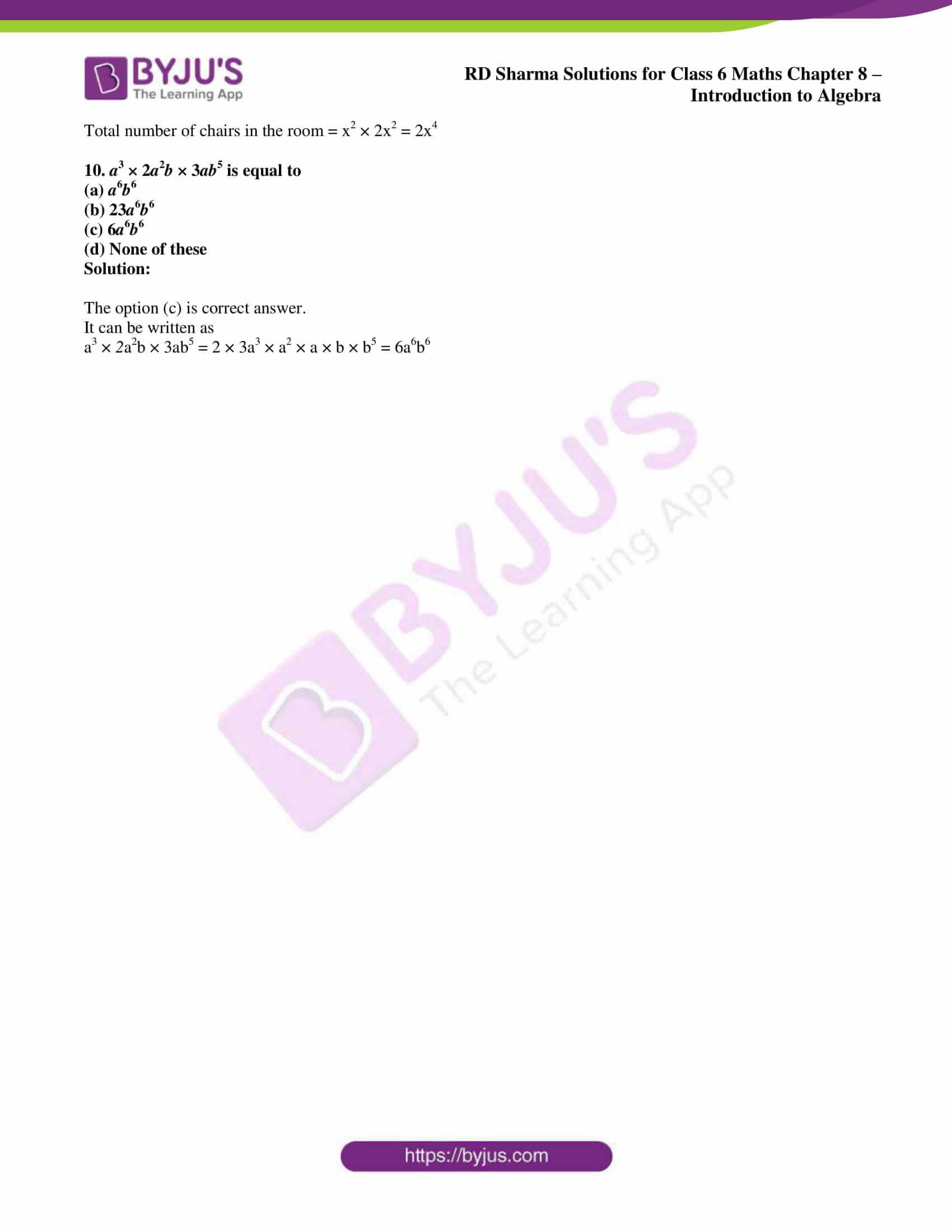 rd sharma class 6 maths solutions chapter 8 obj 3