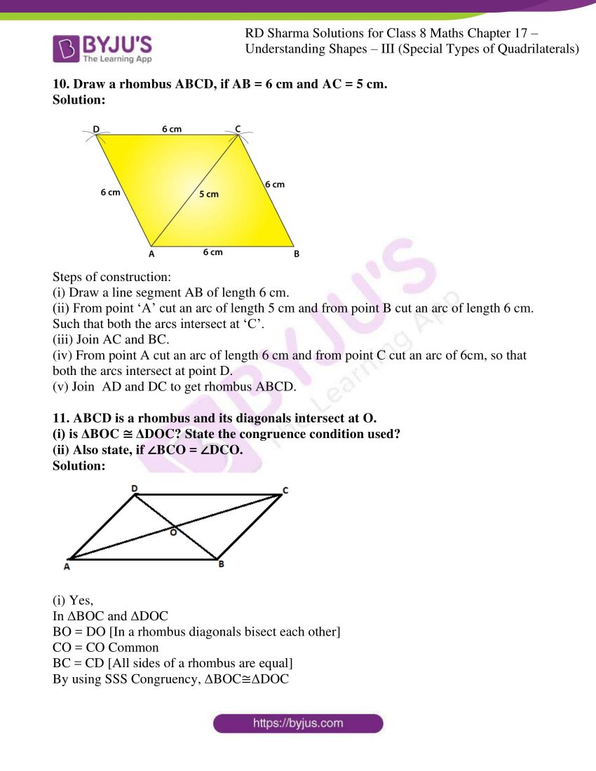 rd sharma class 8 maths chapter 17 exercise 2