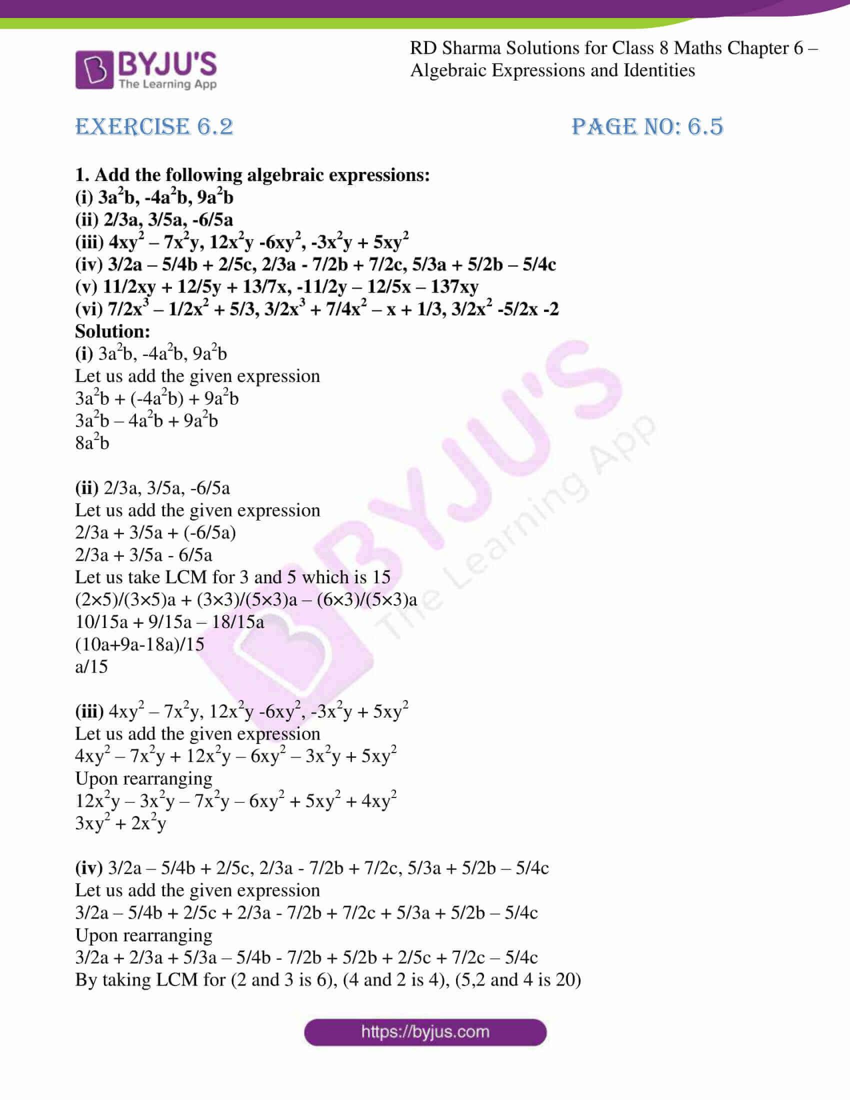 rd sharma class 8 maths chapter 6 exercise 2 1