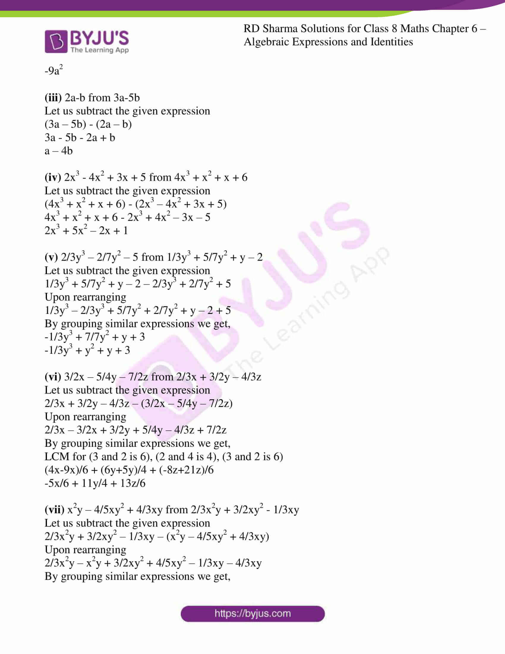 rd sharma class 8 maths chapter 6 exercise 2 3