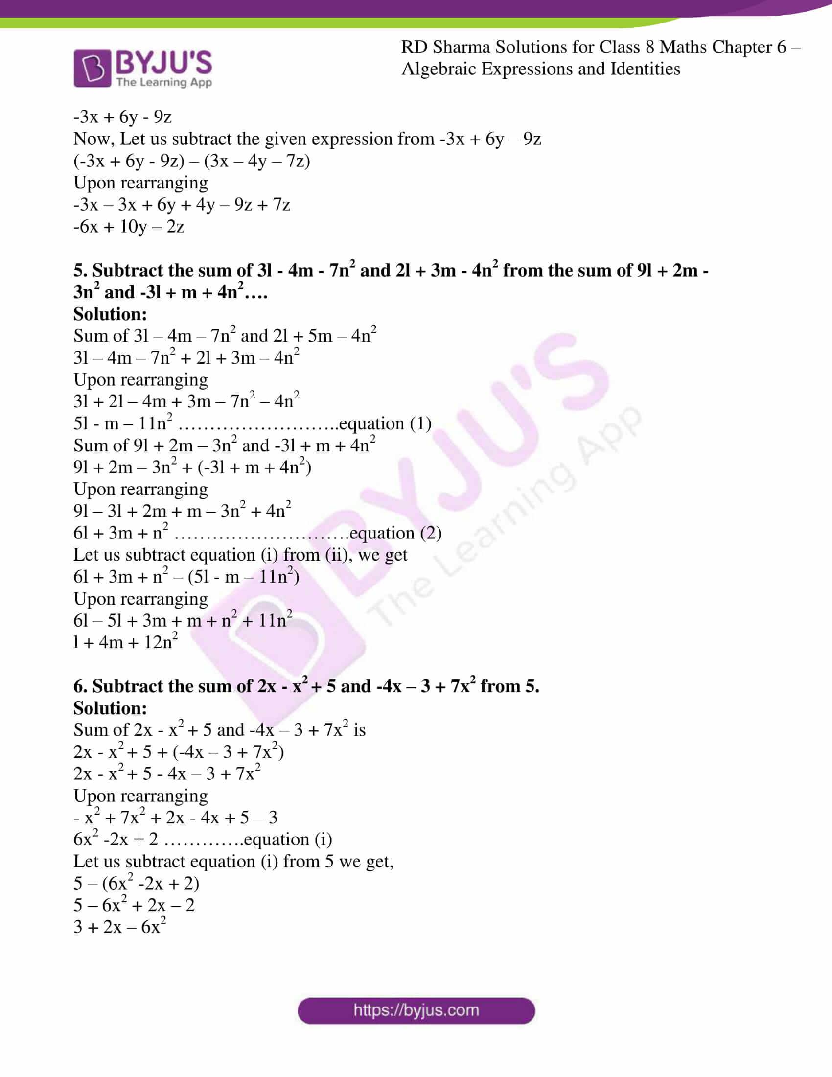 rd sharma class 8 maths chapter 6 exercise 2 6