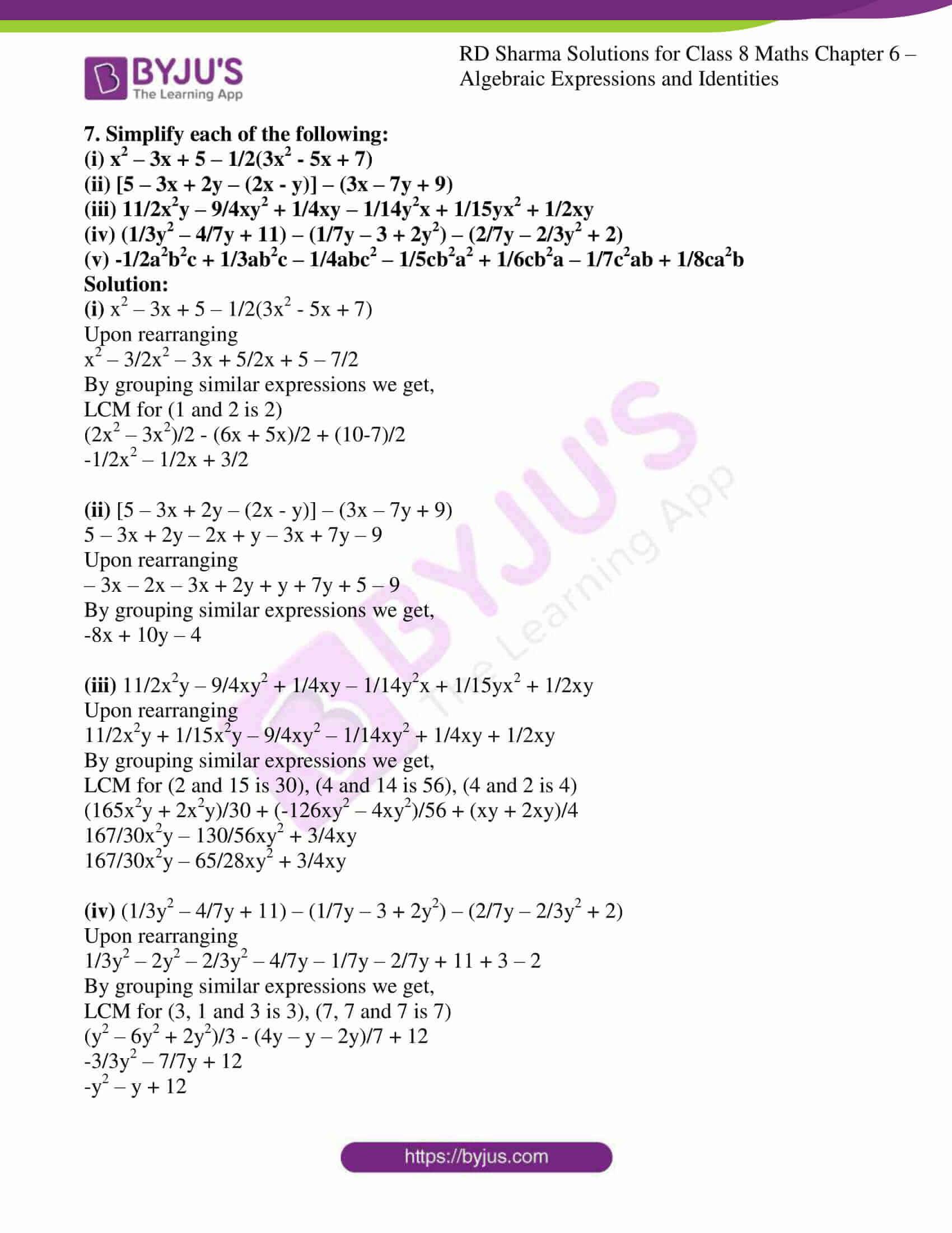 rd sharma class 8 maths chapter 6 exercise 2 7