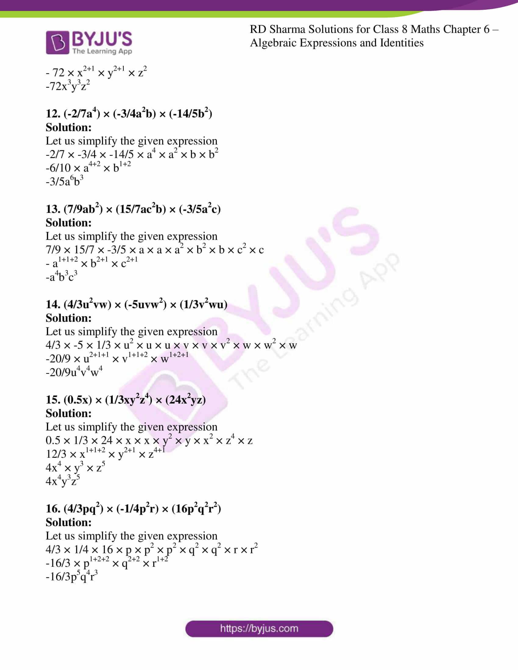 rd sharma class 8 maths chapter 6 exercise 3 3