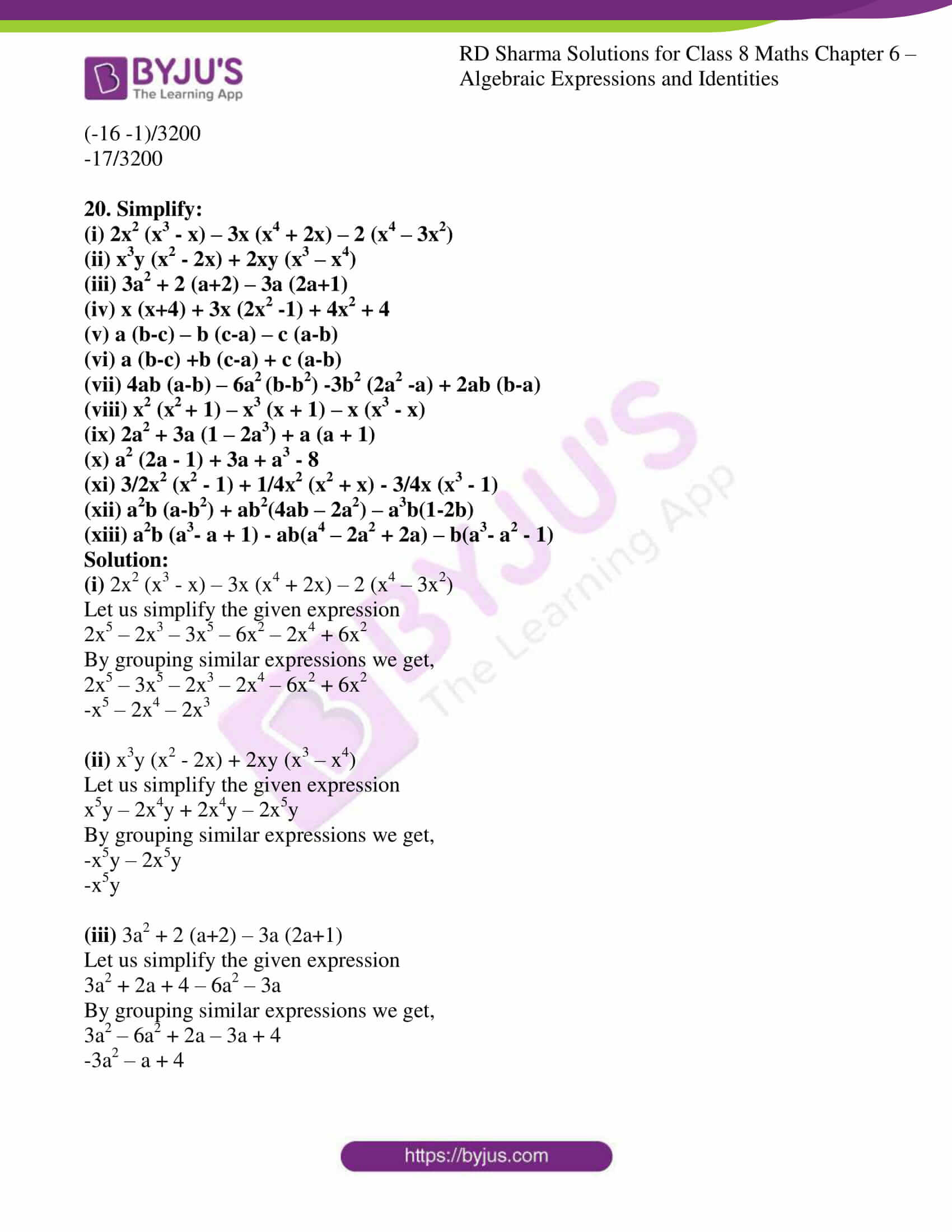 rd sharma class 8 maths chapter 6 exercise 4 6