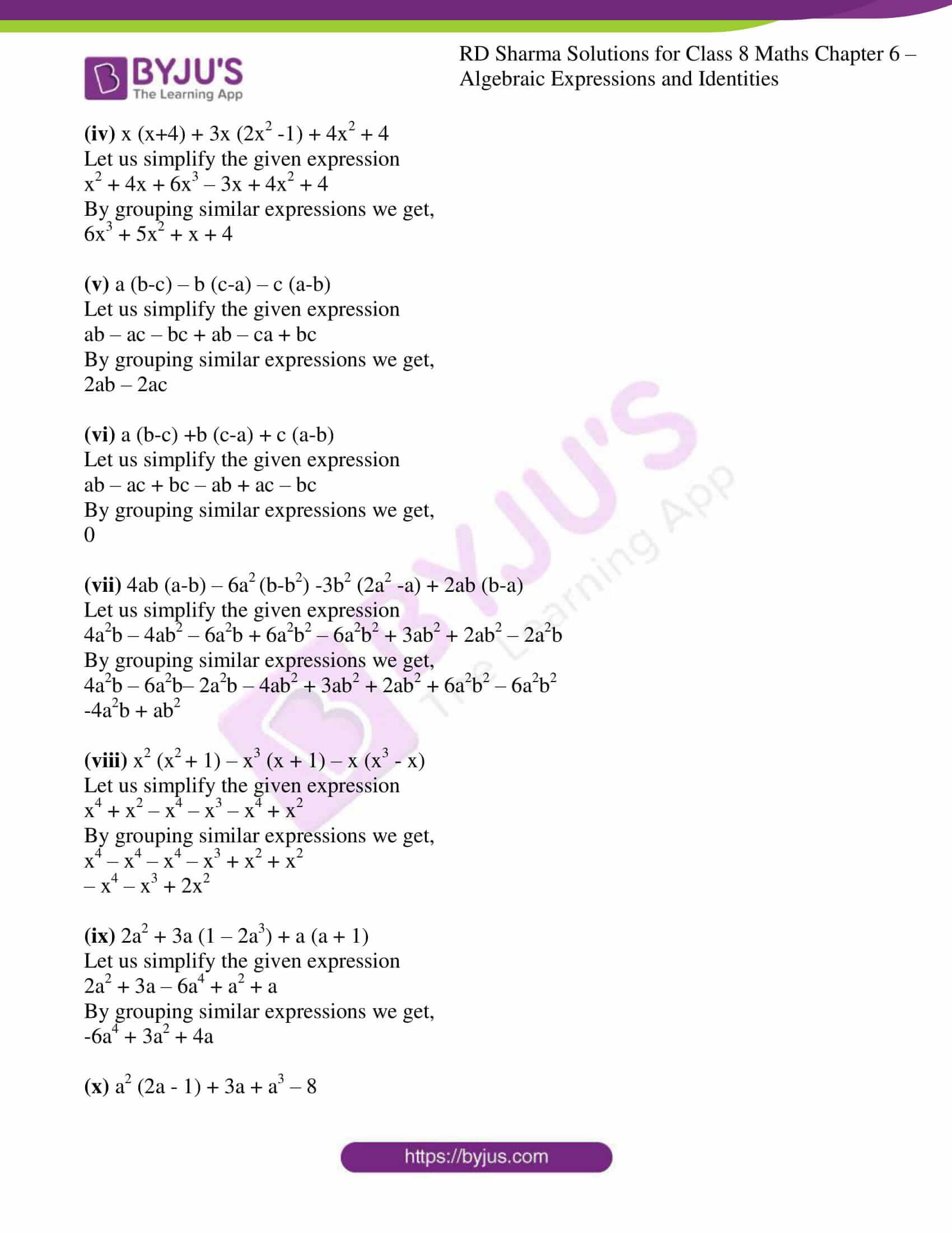 rd sharma class 8 maths chapter 6 exercise 4 7