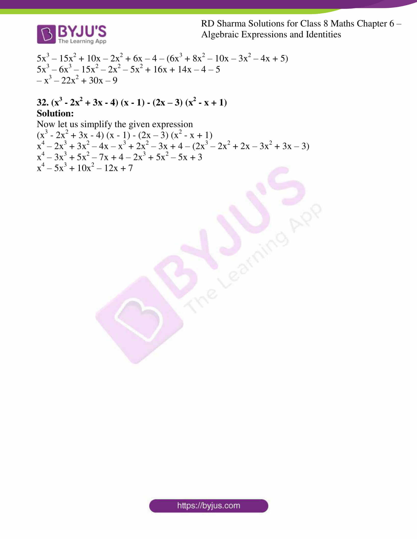 rd sharma class 8 maths chapter 6 exercise 5 8