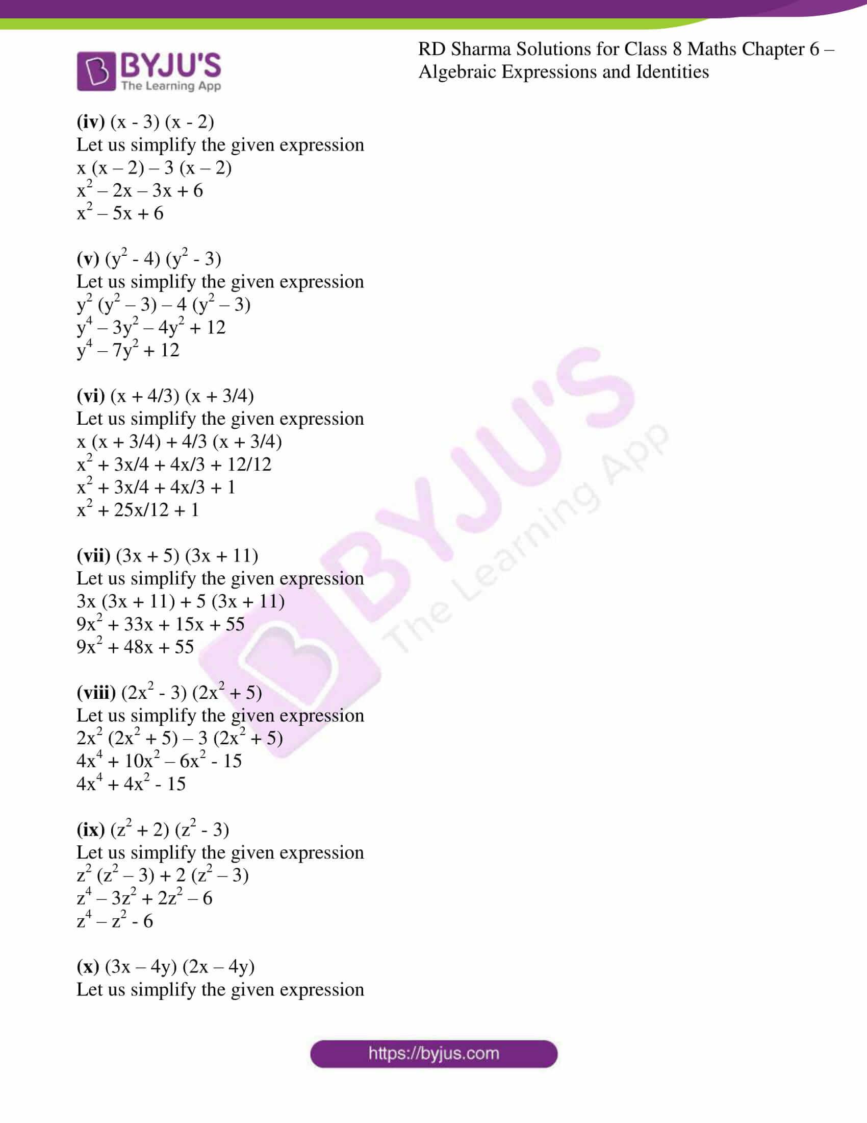 rd sharma class 8 maths chapter 6 exercise 7 2