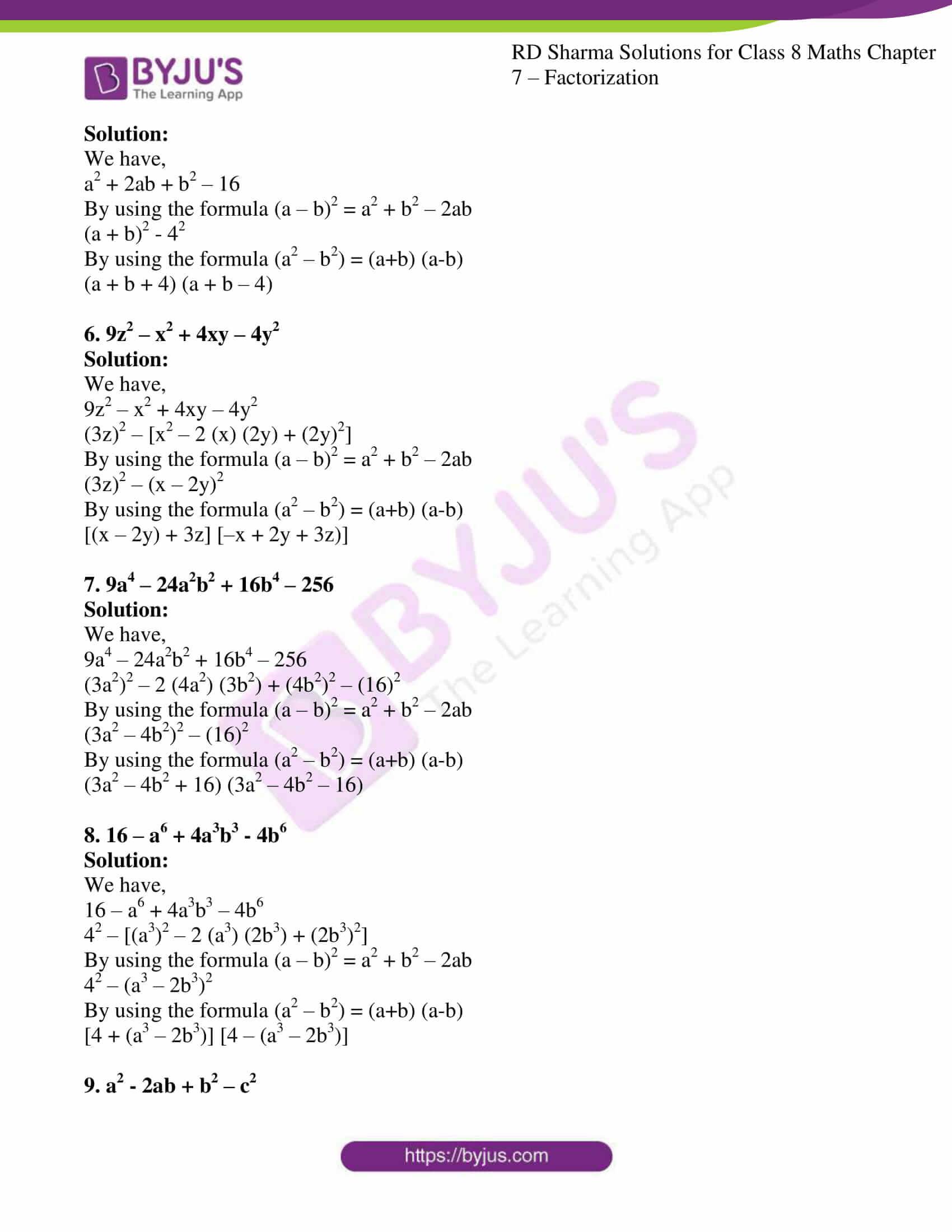 rd sharma class 8 maths chapter 7 exercise 6 2