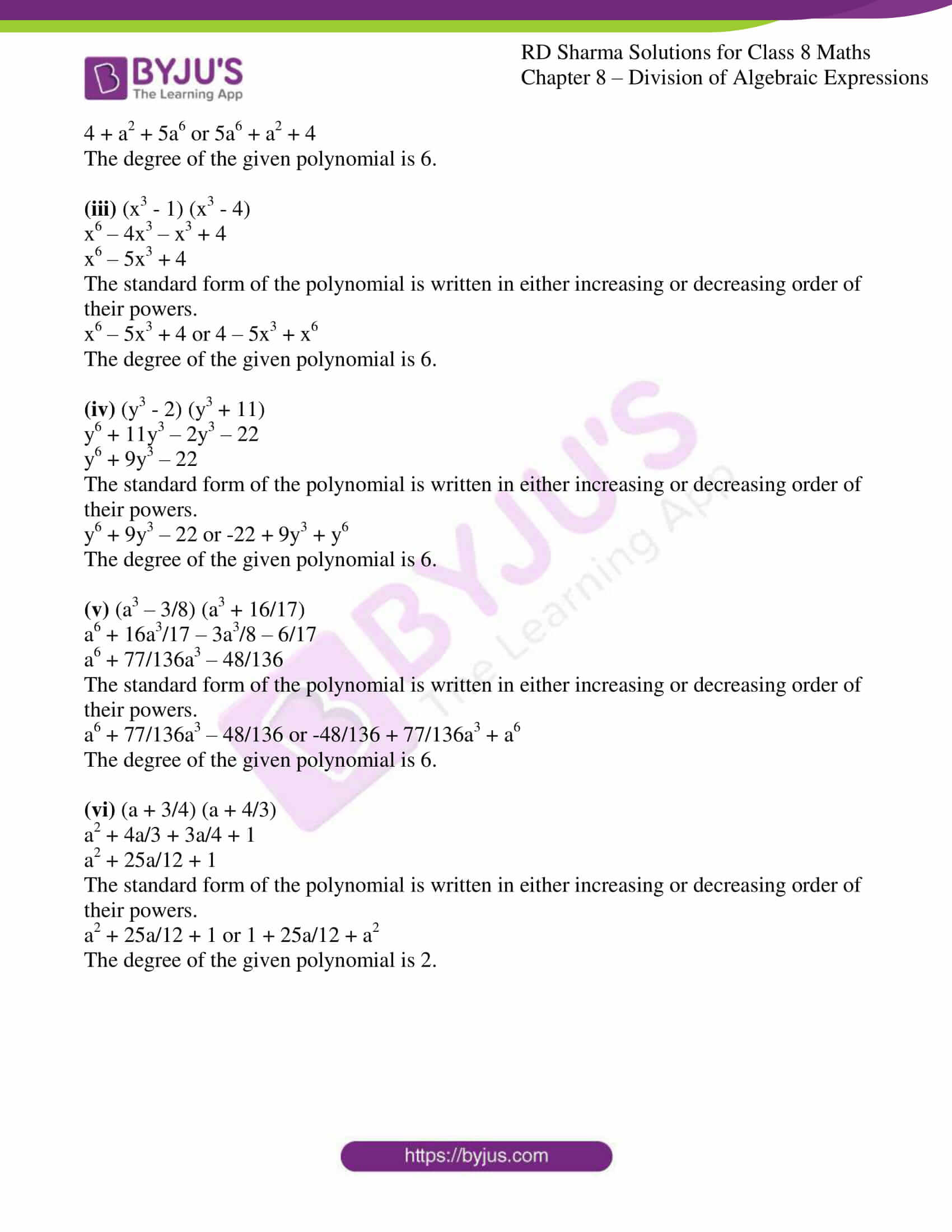 rd sharma class 8 maths chapter 8 exercise 1 3