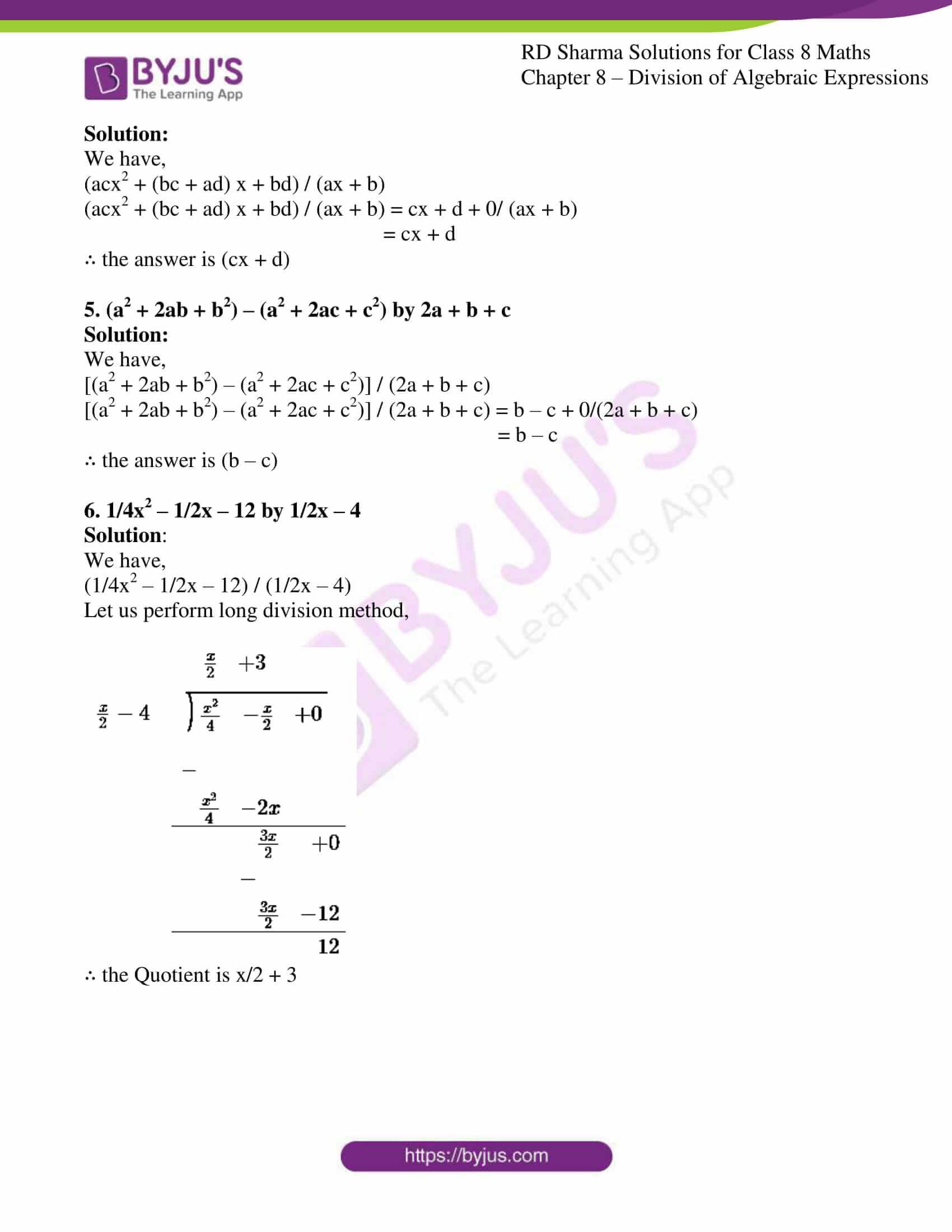 rd sharma class 8 maths chapter 8 exercise 6 2