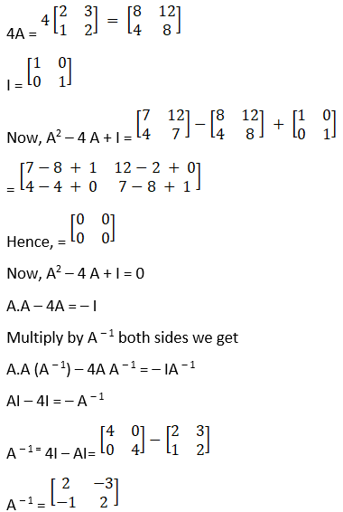 RD Sharma Solutions for Class 12 Maths Chapter 7 Adjoint and Inverse of a Matrix Image 123