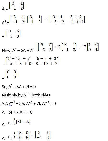RD Sharma Solutions for Class 12 Maths Chapter 7 Adjoint and Inverse of a Matrix Image 129