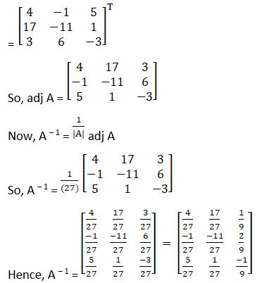 RD Sharma Solutions for Class 12 Maths Chapter 7 Adjoint and Inverse of a Matrix Image 72