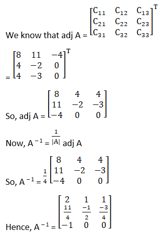 RD Sharma Solutions for Class 12 Maths Chapter 7 Adjoint and Inverse of a Matrix Image 80