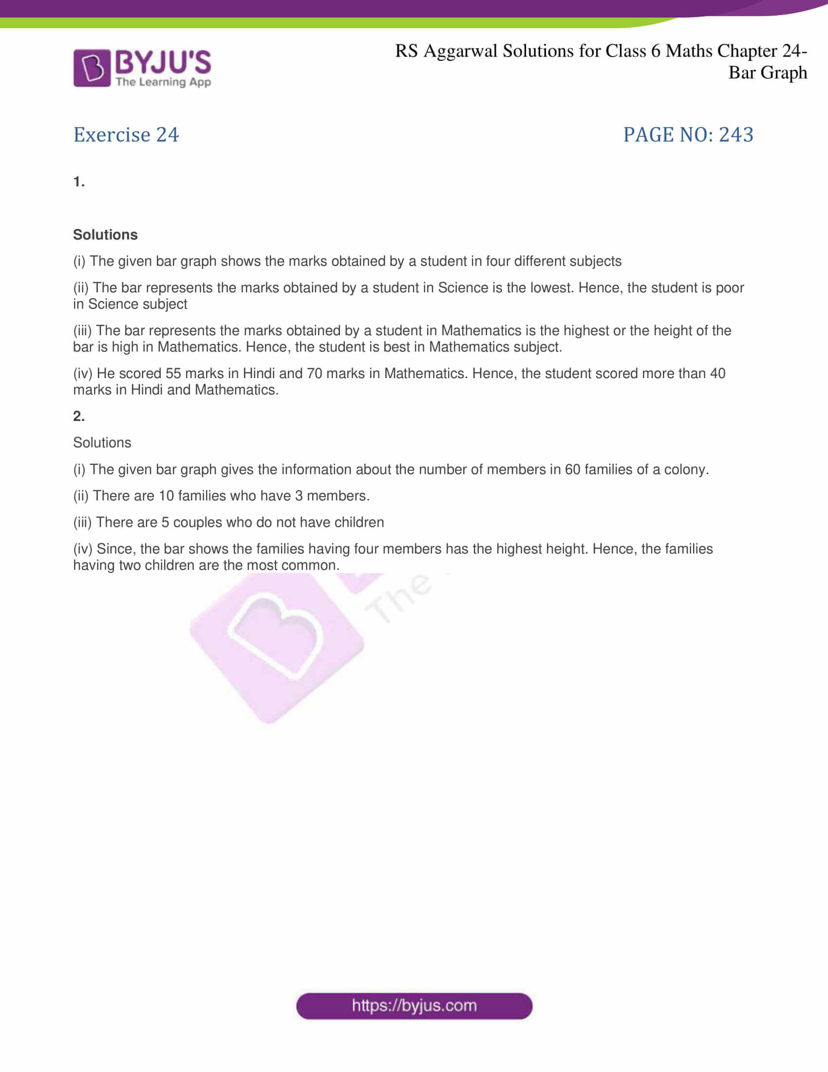rs aggarwal solutions for class 6 maths chapter 24 1