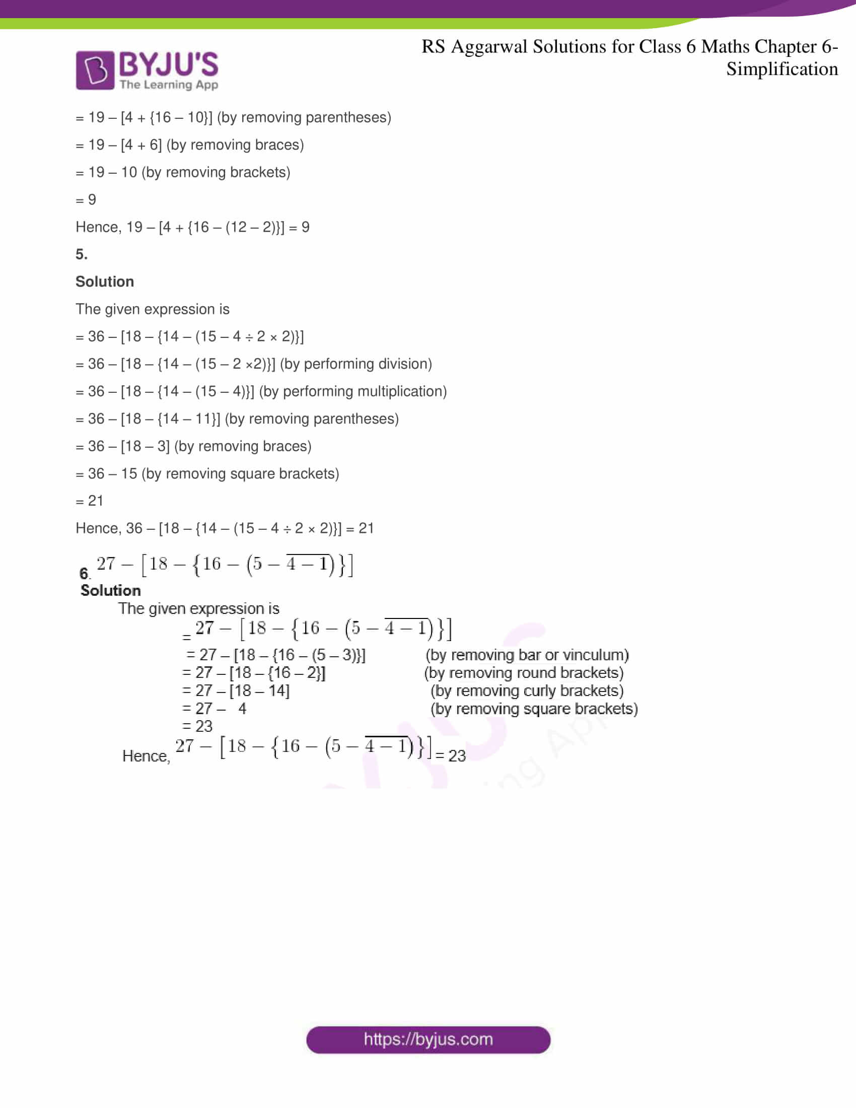 rs aggarwal solutions for class 6 maths chapter 6 2