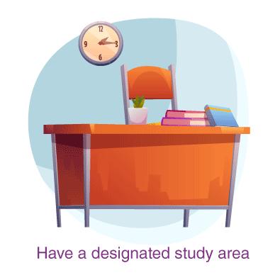 have a designated study area
