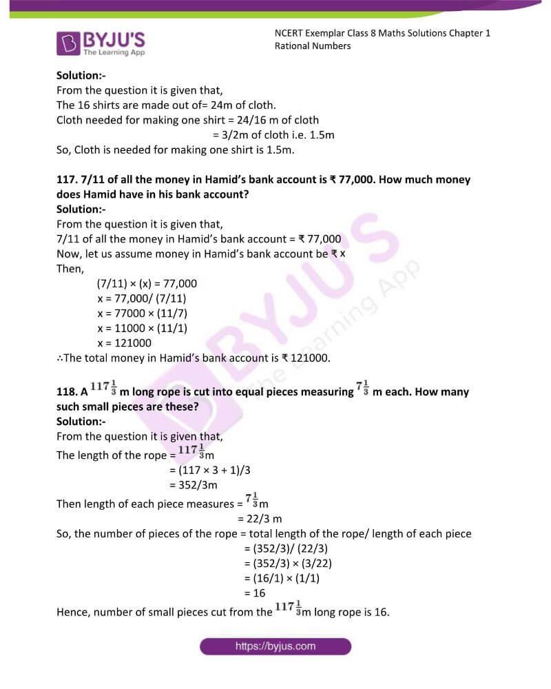 NCERT Exemplar Class 8 Maths Solutions Chapter 1 Rational Numbers 35