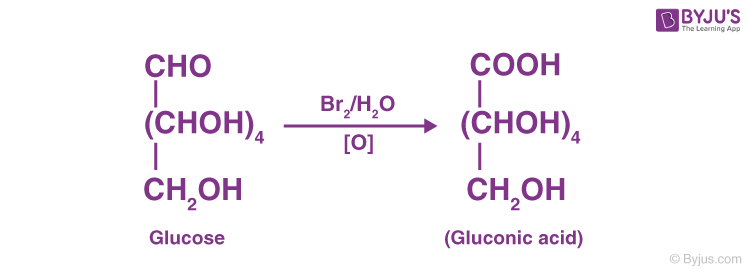 Oxidation reaction of glucose